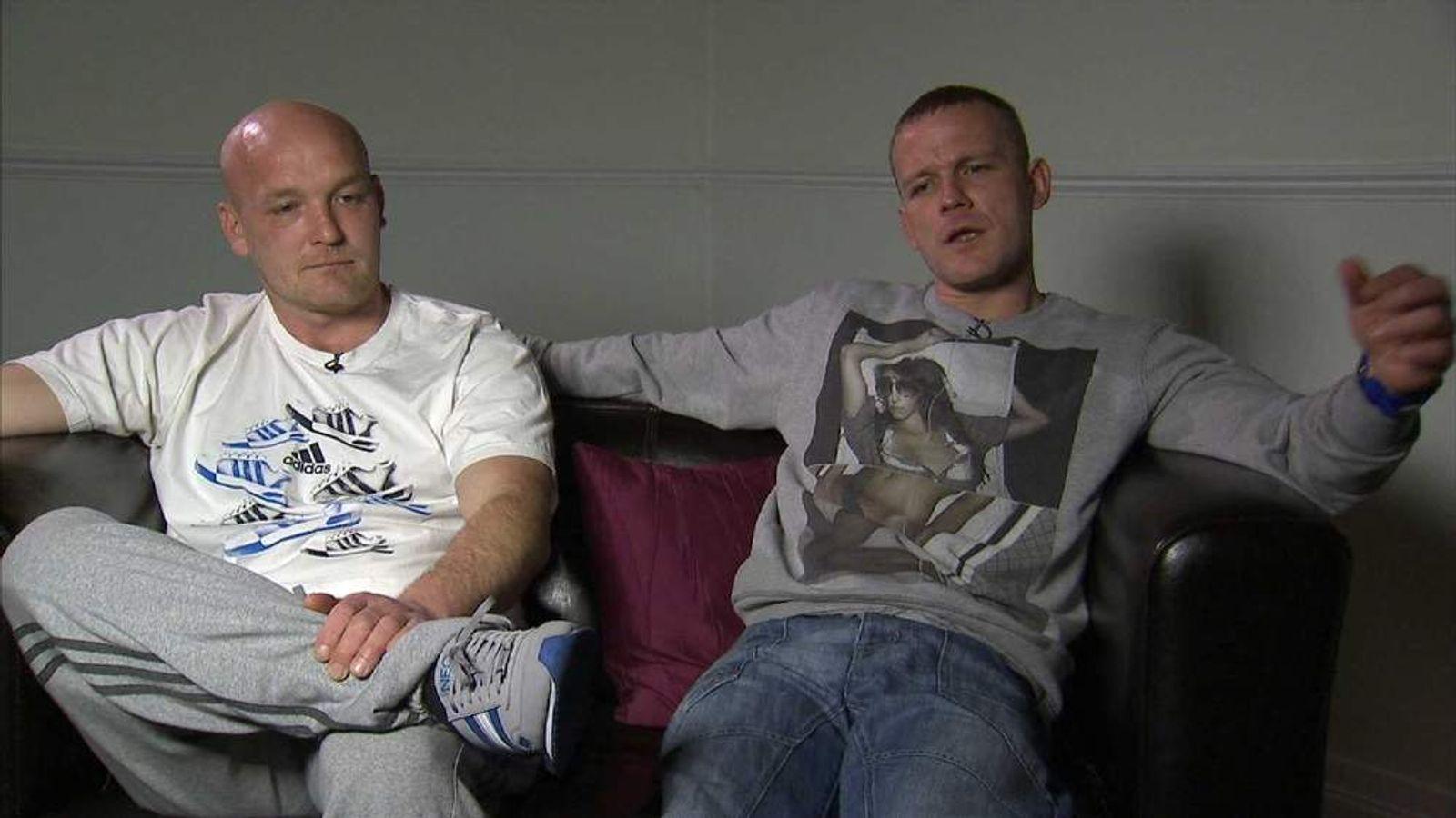 Philpott neighbours Jamie Butler (Left) and Darren Butler