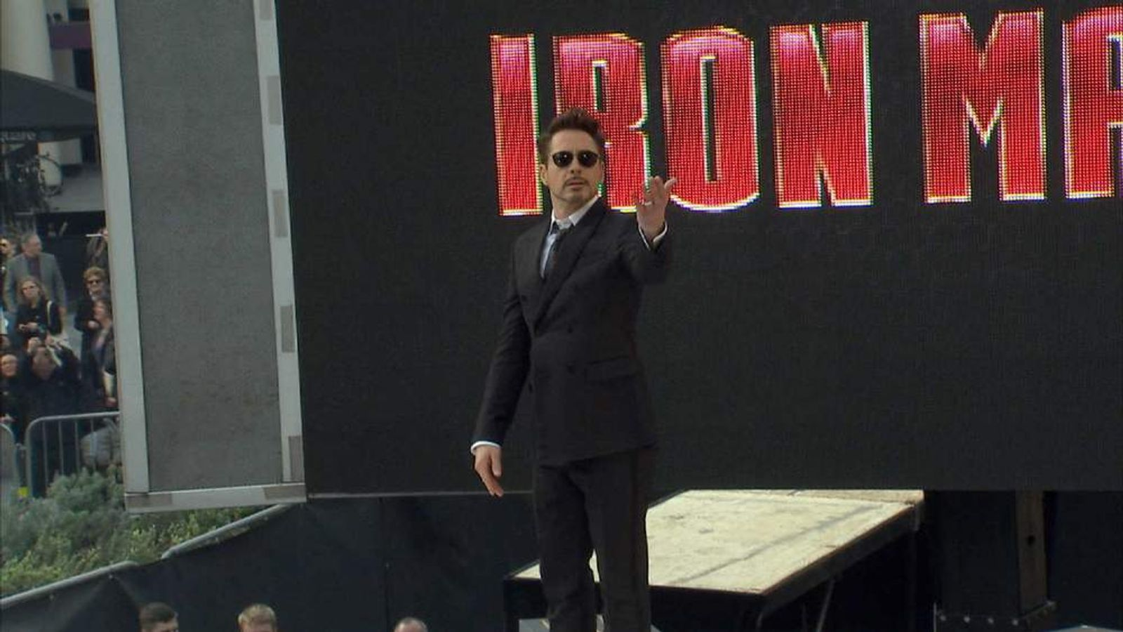 Robert Downey Jnr at the Iron Man 3 premiere