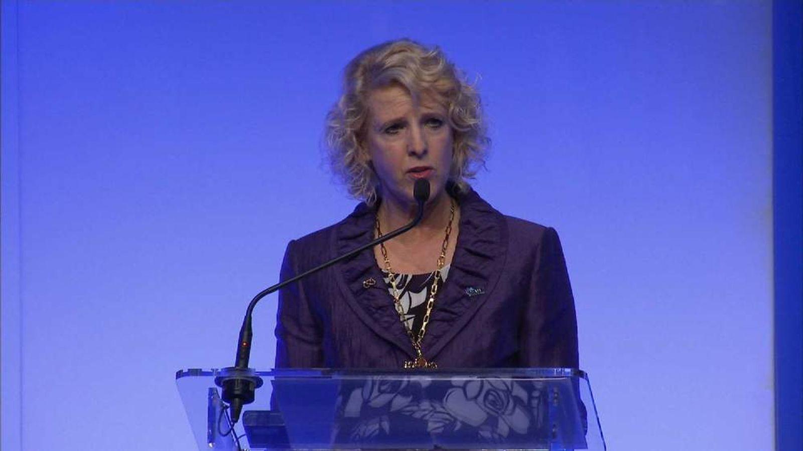Bernadette Hunter speaking on government education reforms