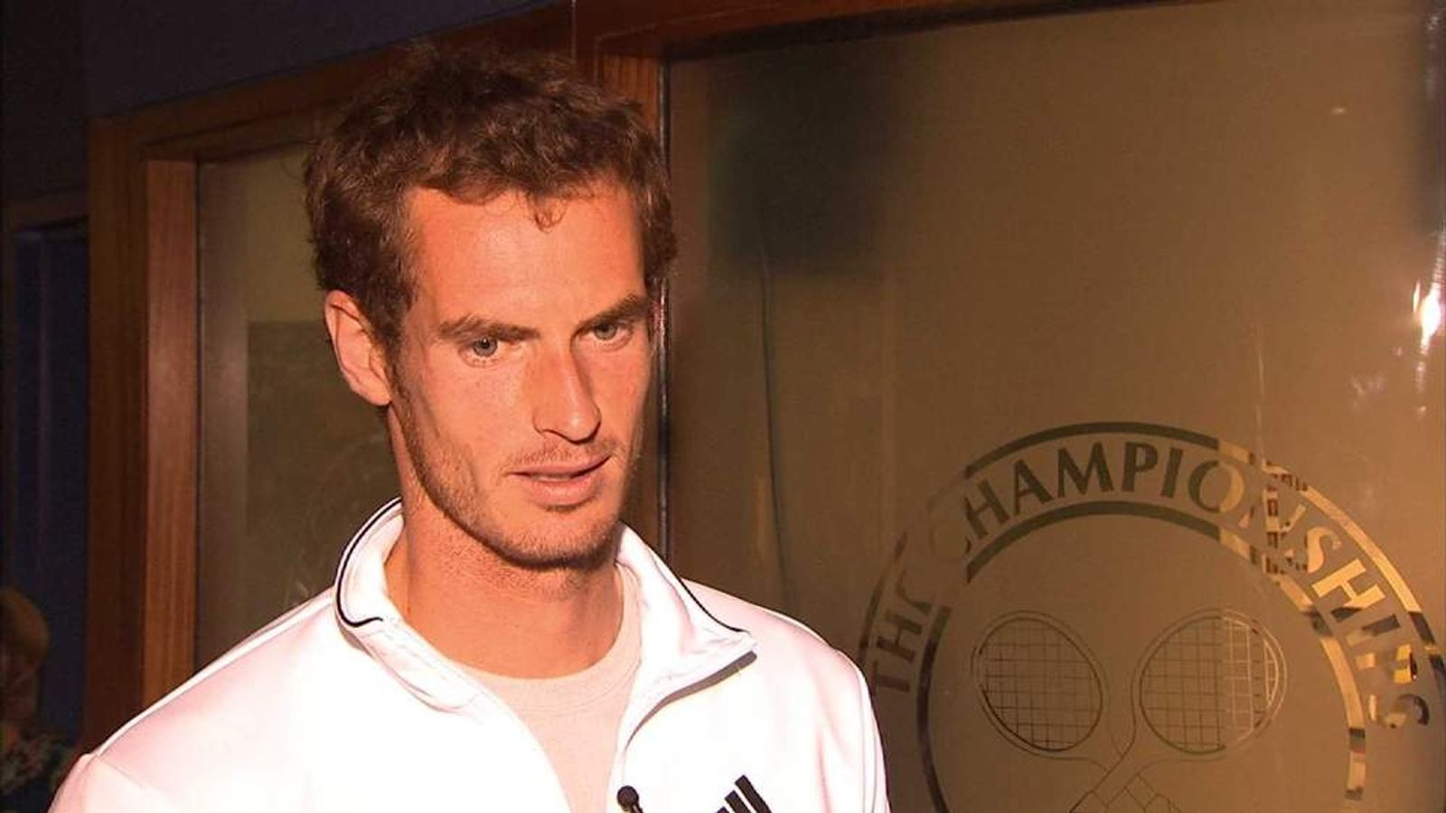 Andy Murray talks to Sky