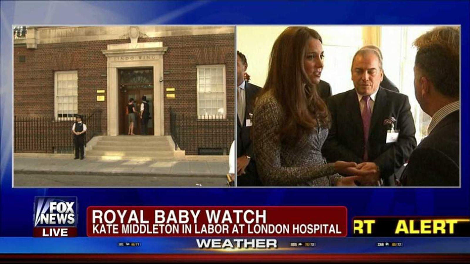 Royal baby Fox News off air