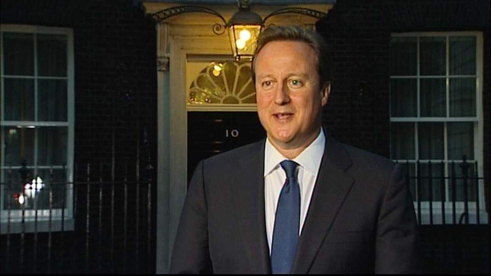 David Cameron greets news of royal baby