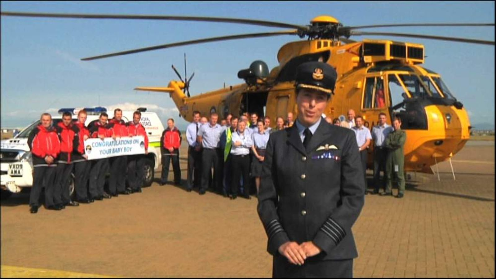 RAF search and rescue congratulations on royal baby