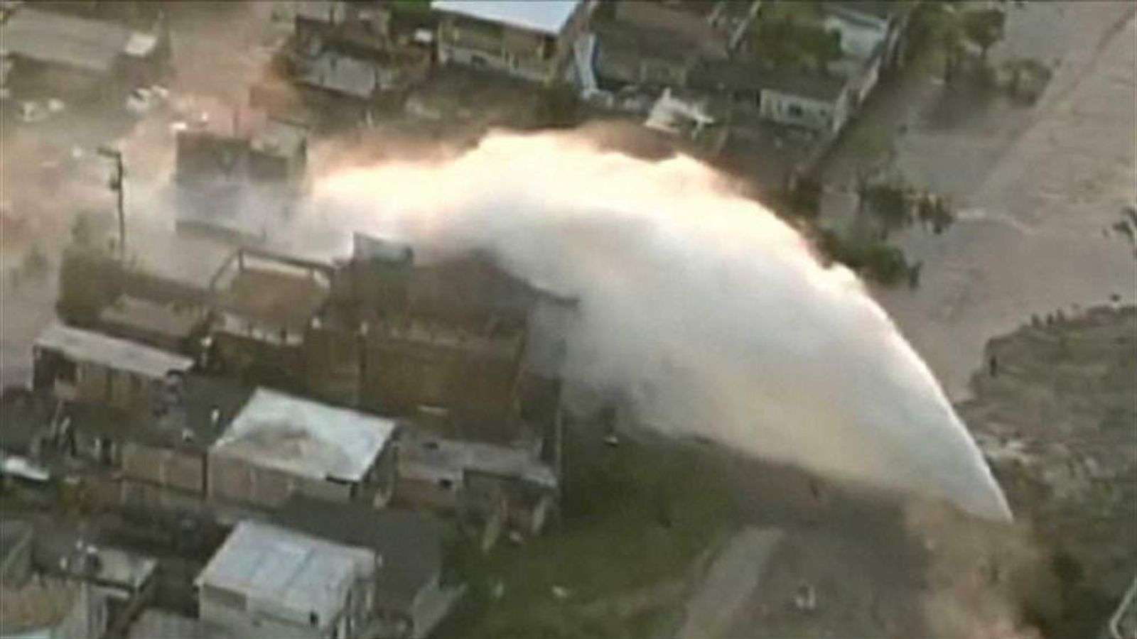 Brazil burst water main