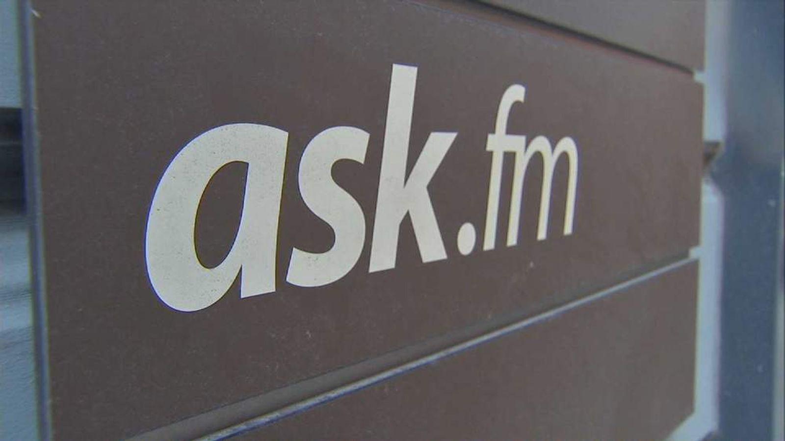 Ask.fm website sign