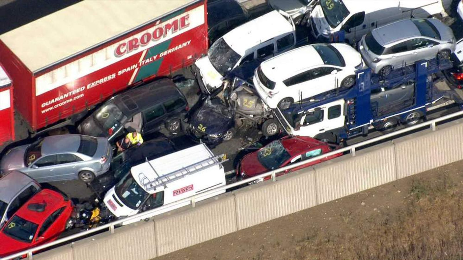 100 car pile up on Isle of Sheppey