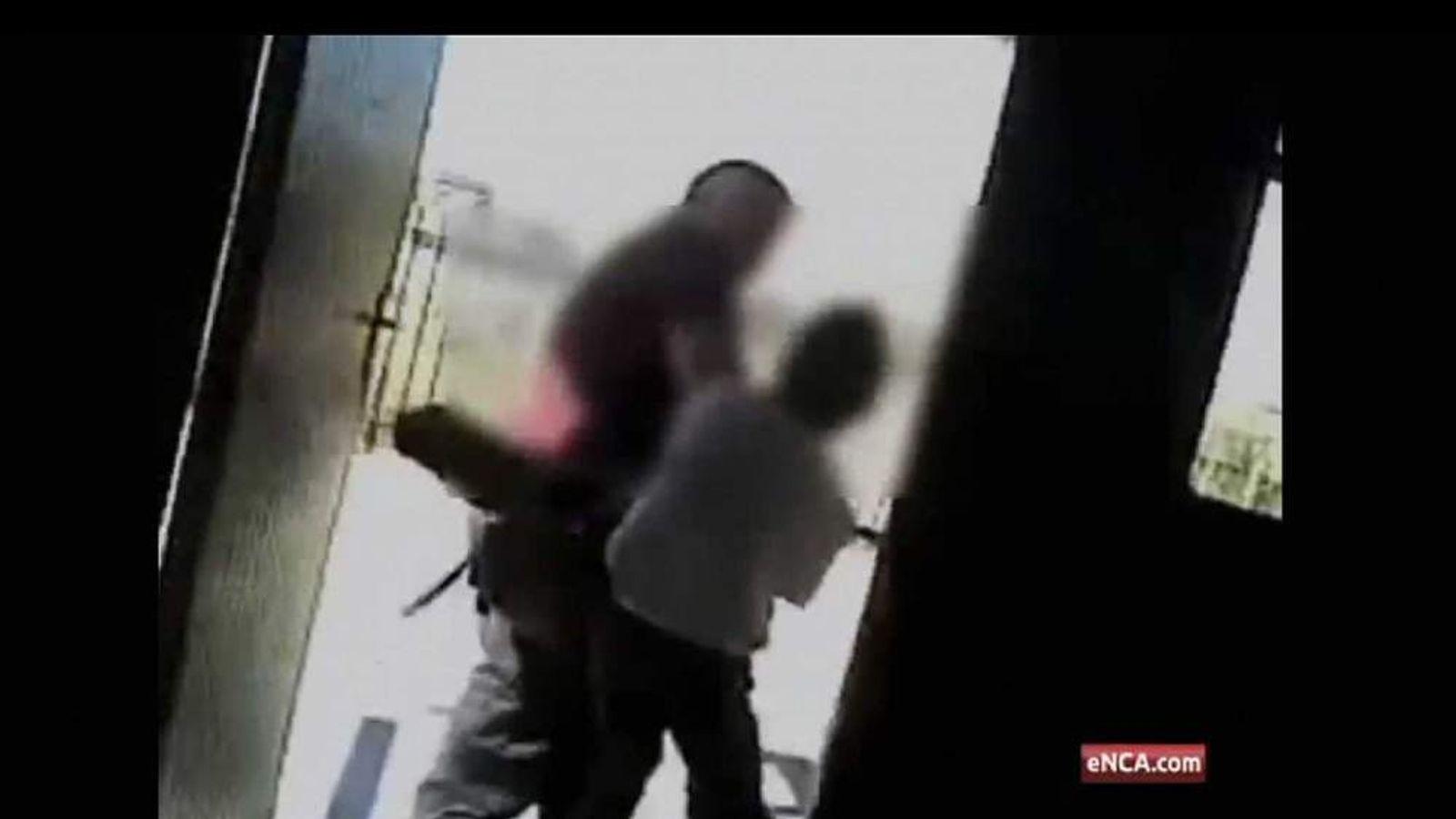 A pupil assaults a teacher at a school in Johannesburg