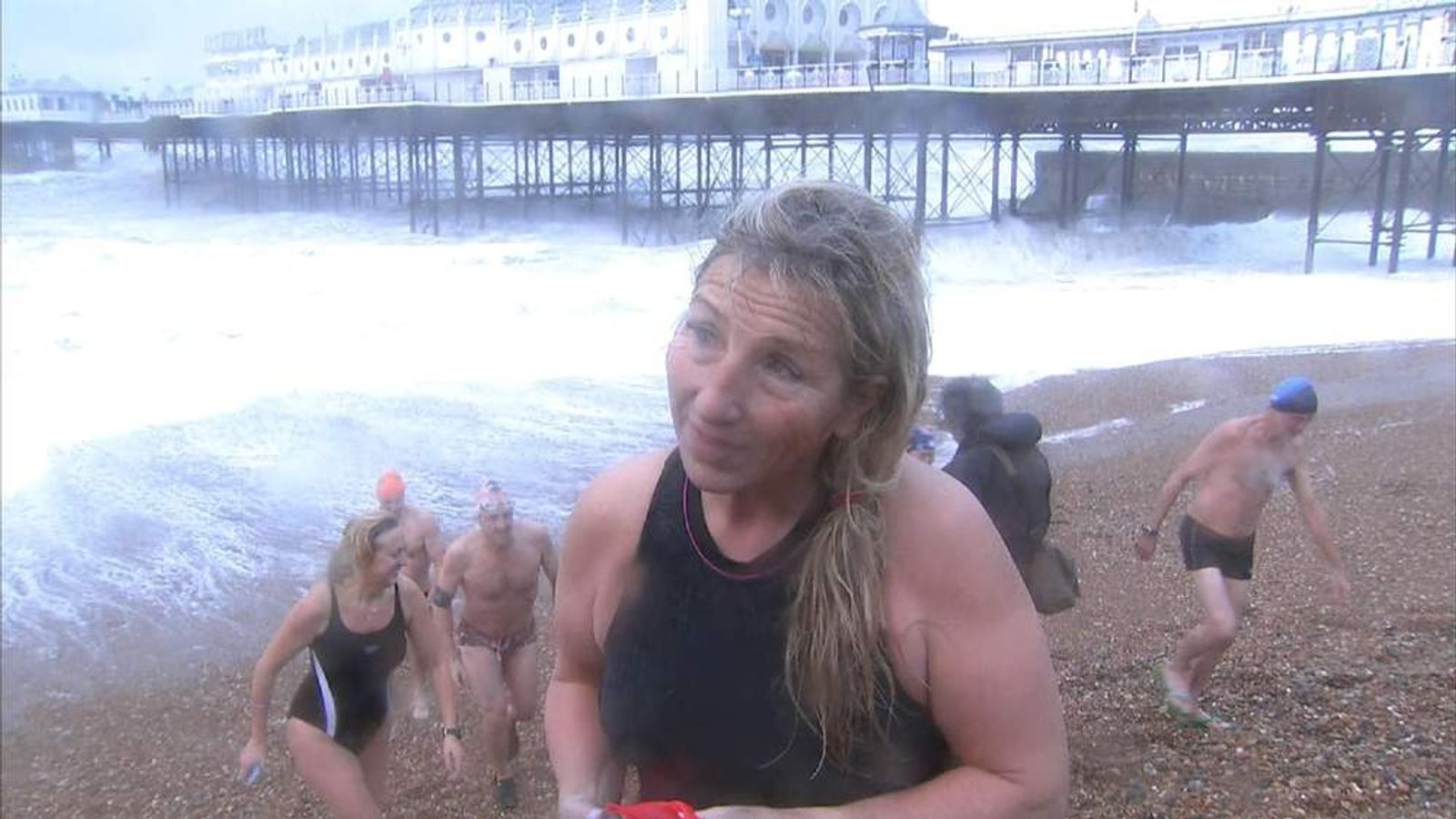 Swimmers at Brighton beach