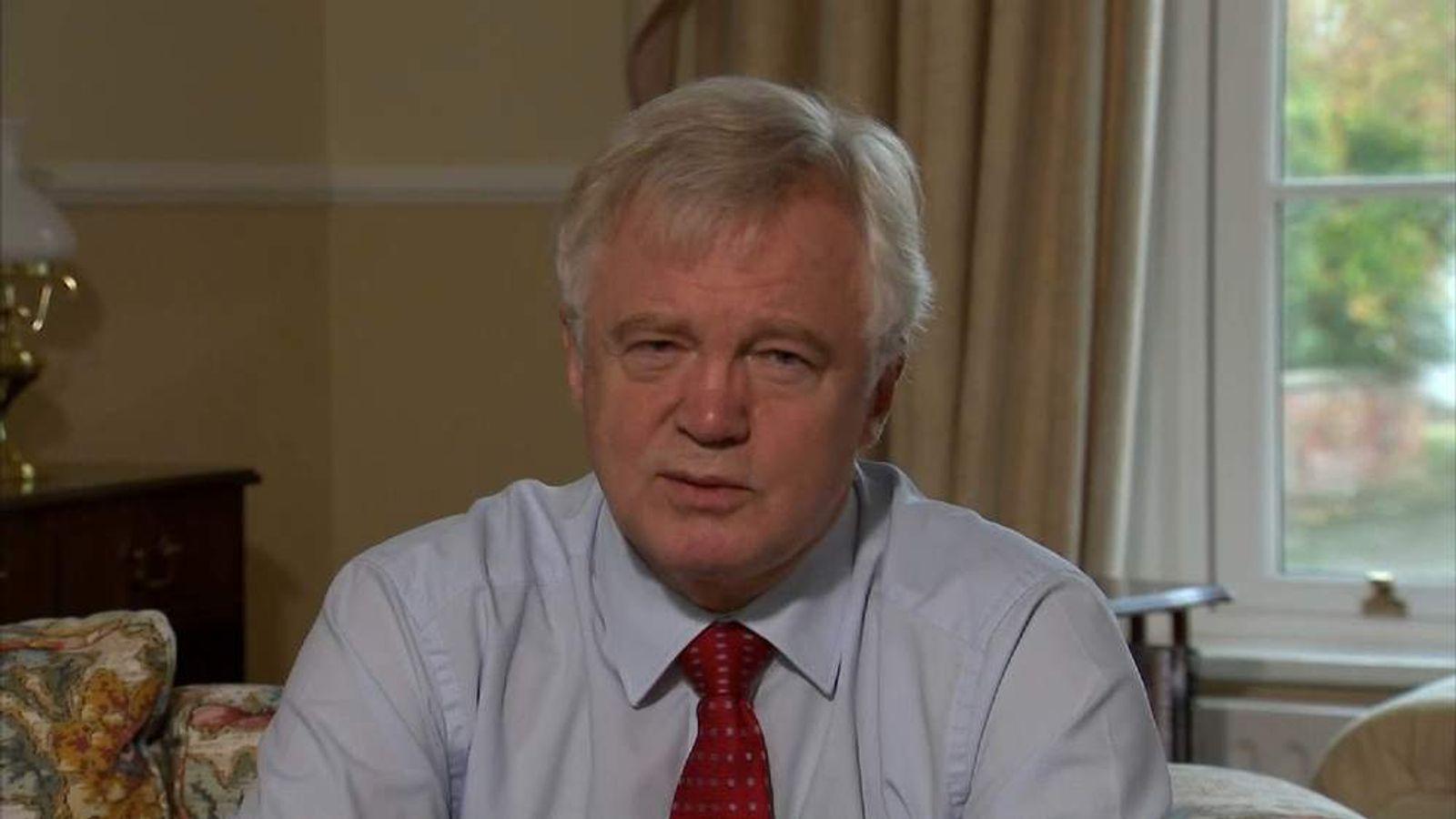 David Davis, the former shadow home secretary