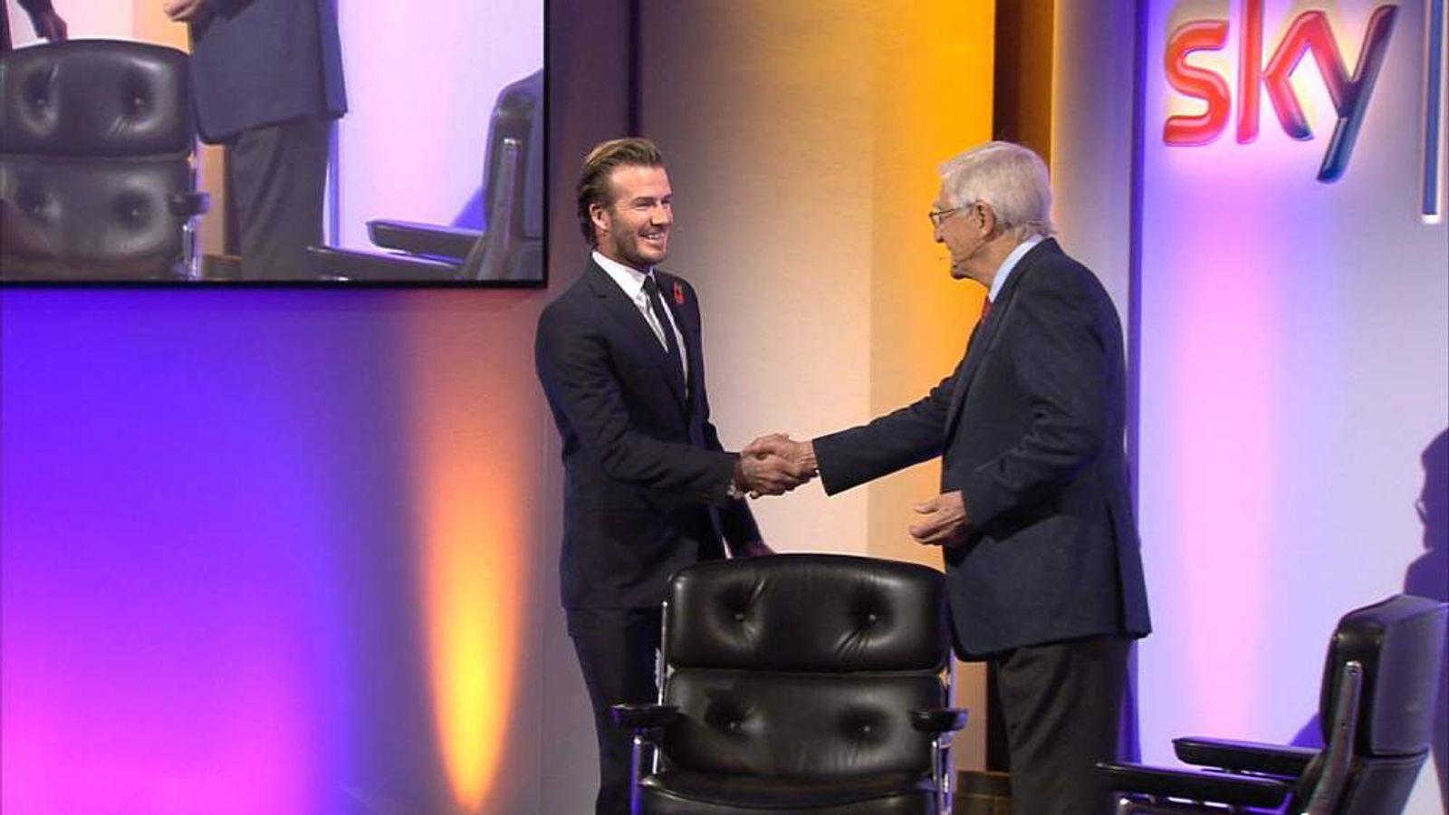David Beckham and Sir Michael Parkinson