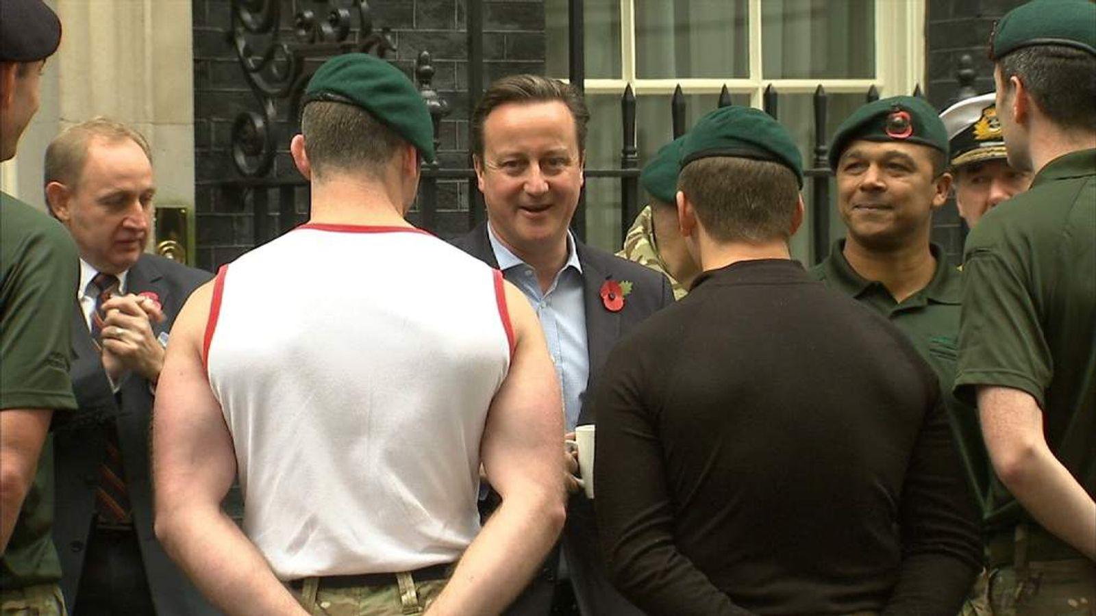 David Cameron and Royal Marines