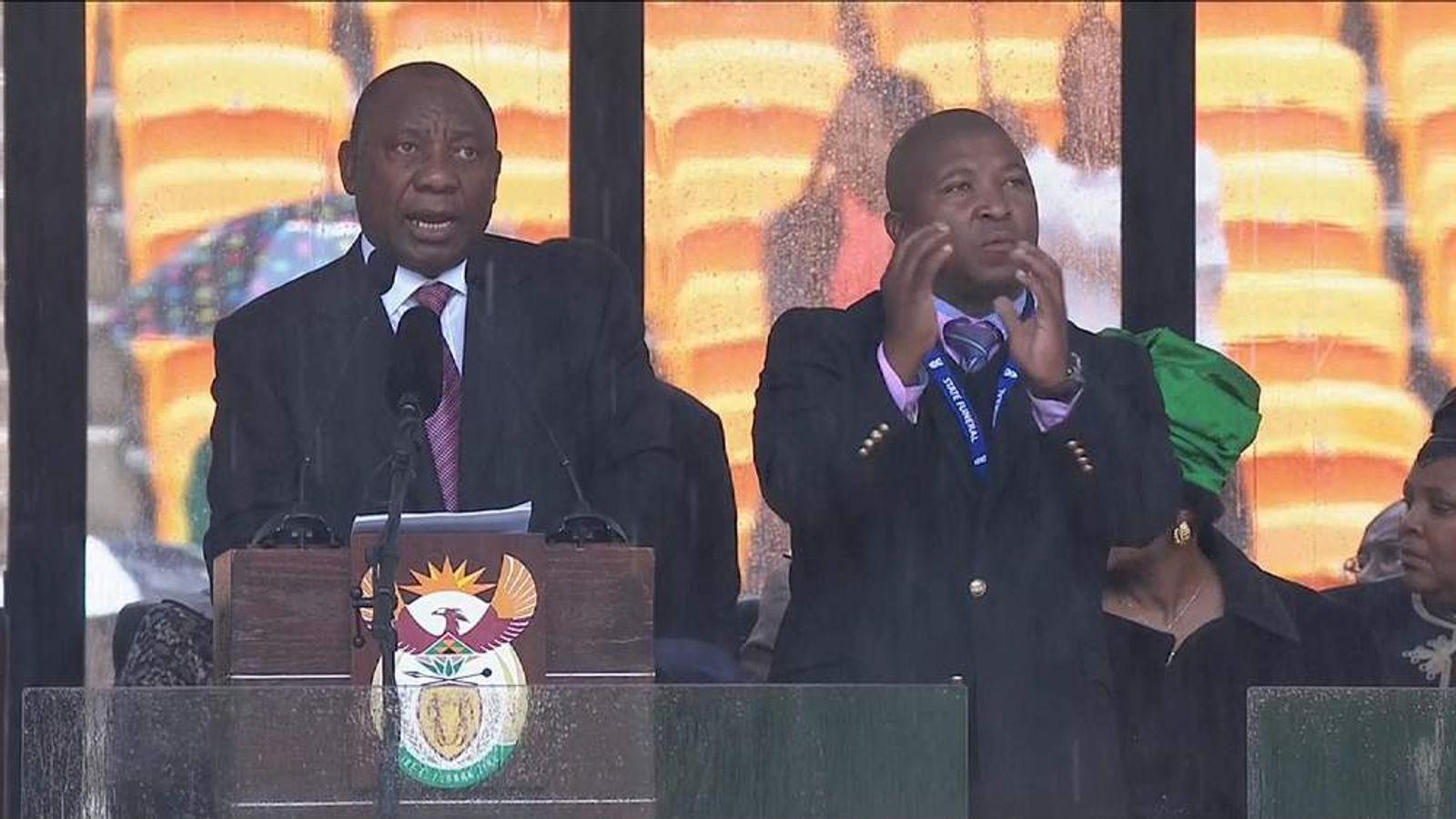 Man accused of being fake interpreter at Mandela memorial