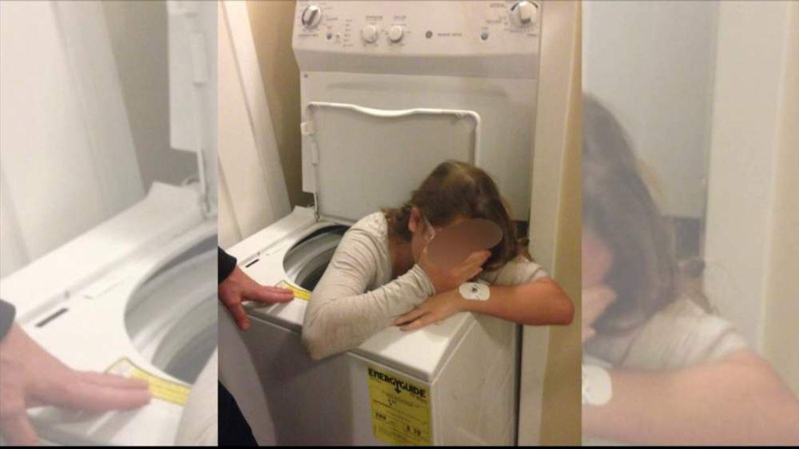 Trinity while stuck in the washing machine