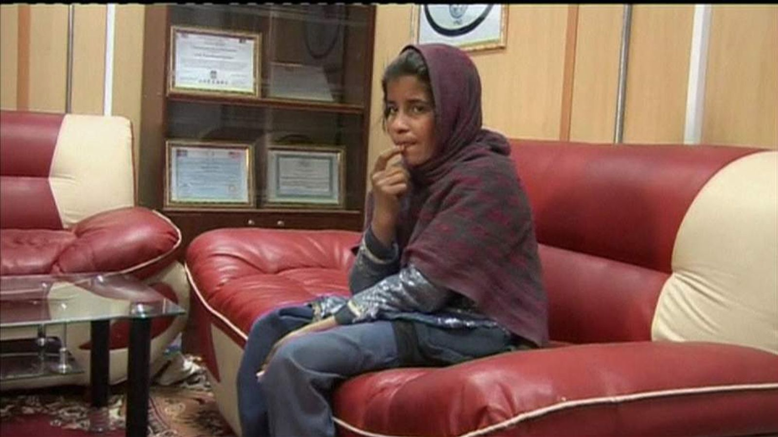 Alleged Afghan suicide bomber girl Spozhmai