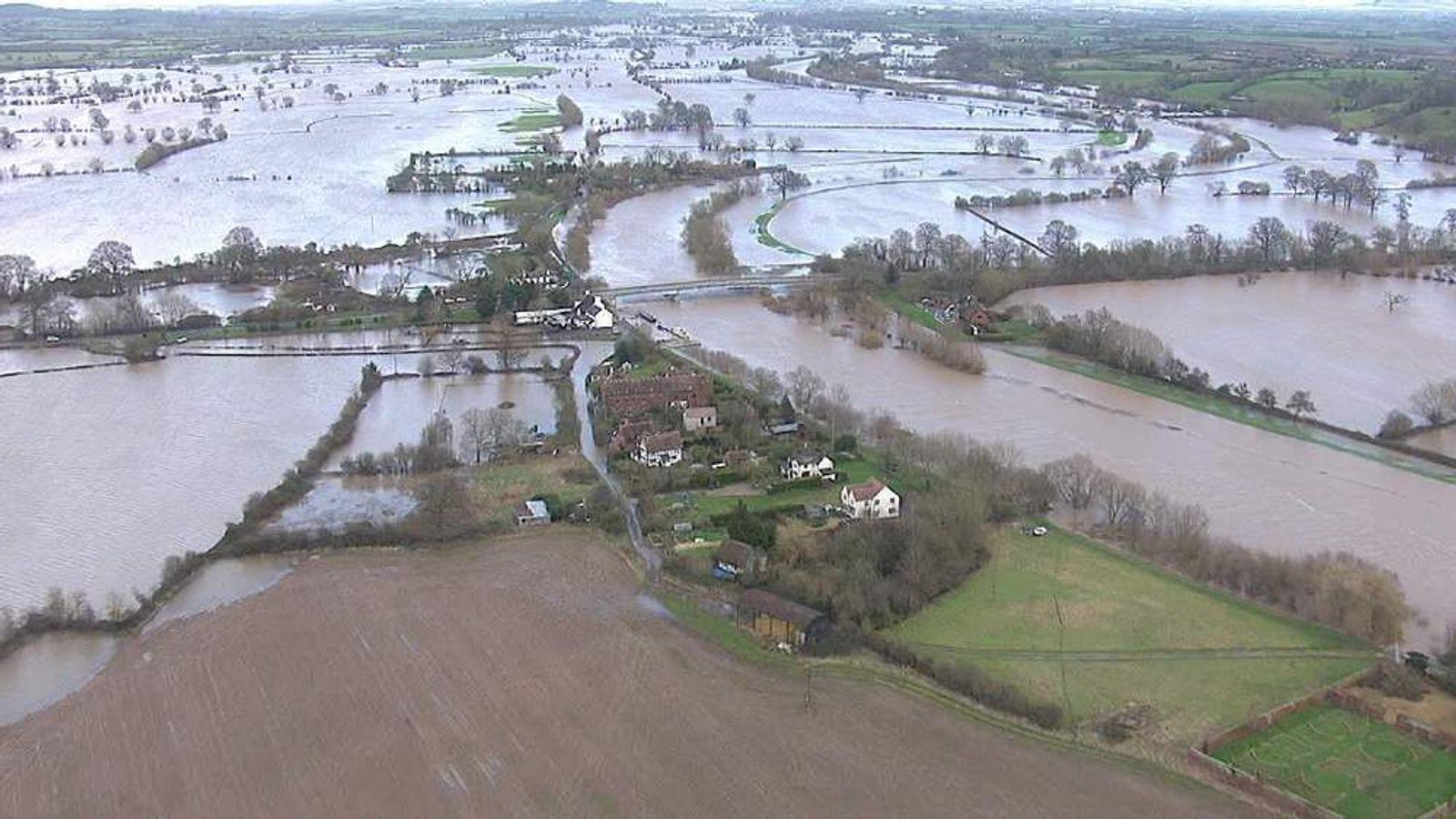 Flood damage in Britain