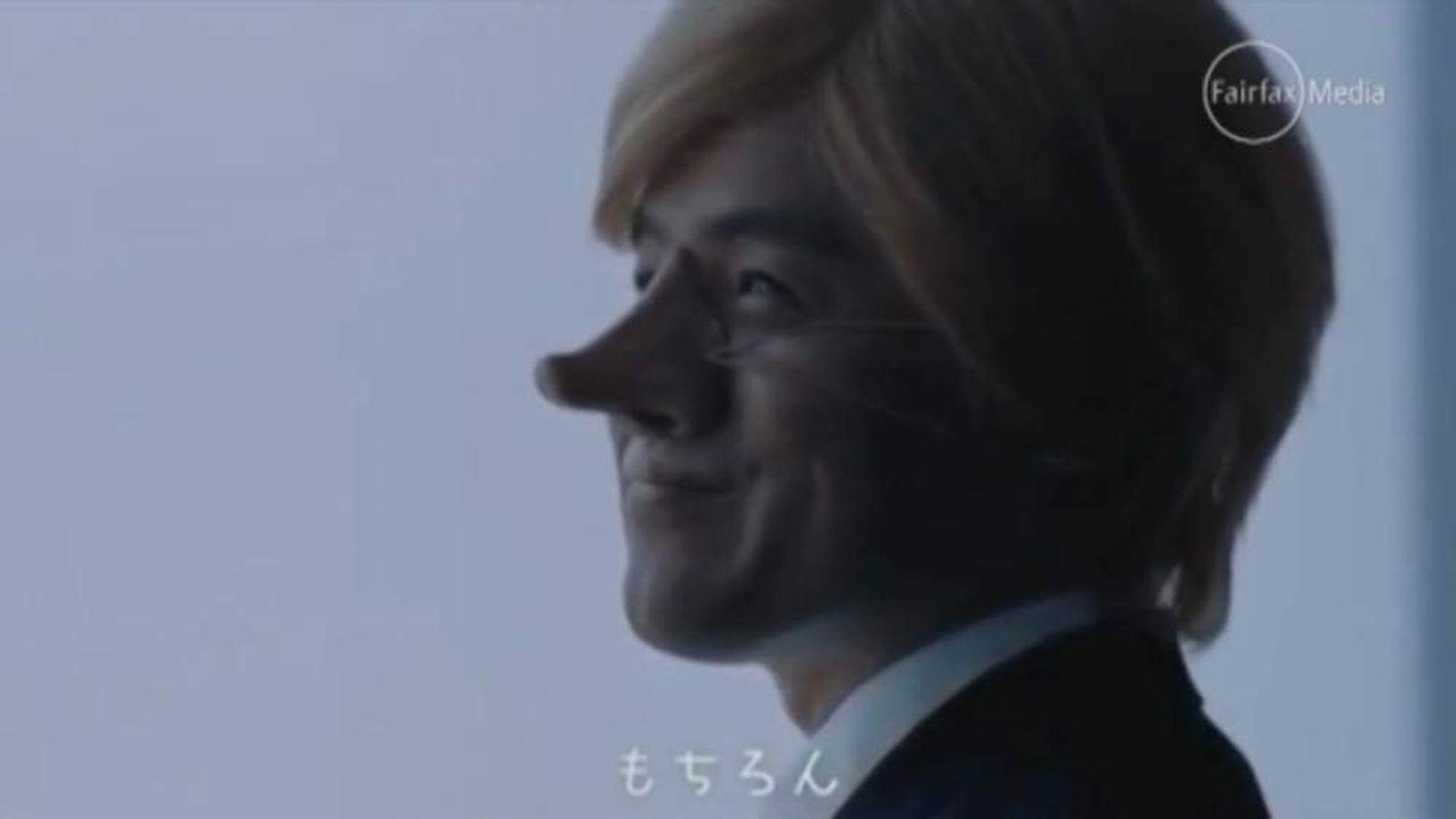 Nippon airways big nose advert