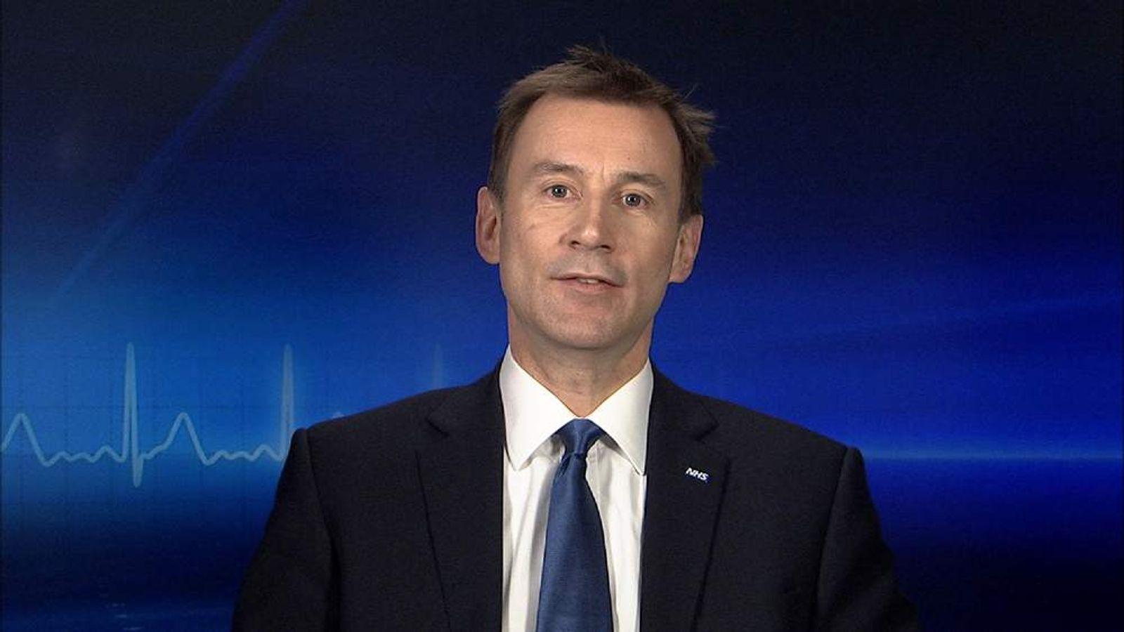 Jeremy Hunt MP, Health Secretary