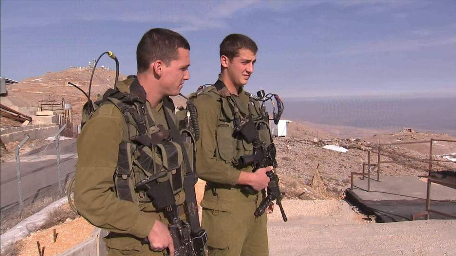 Paratroopers in the Golan Heights