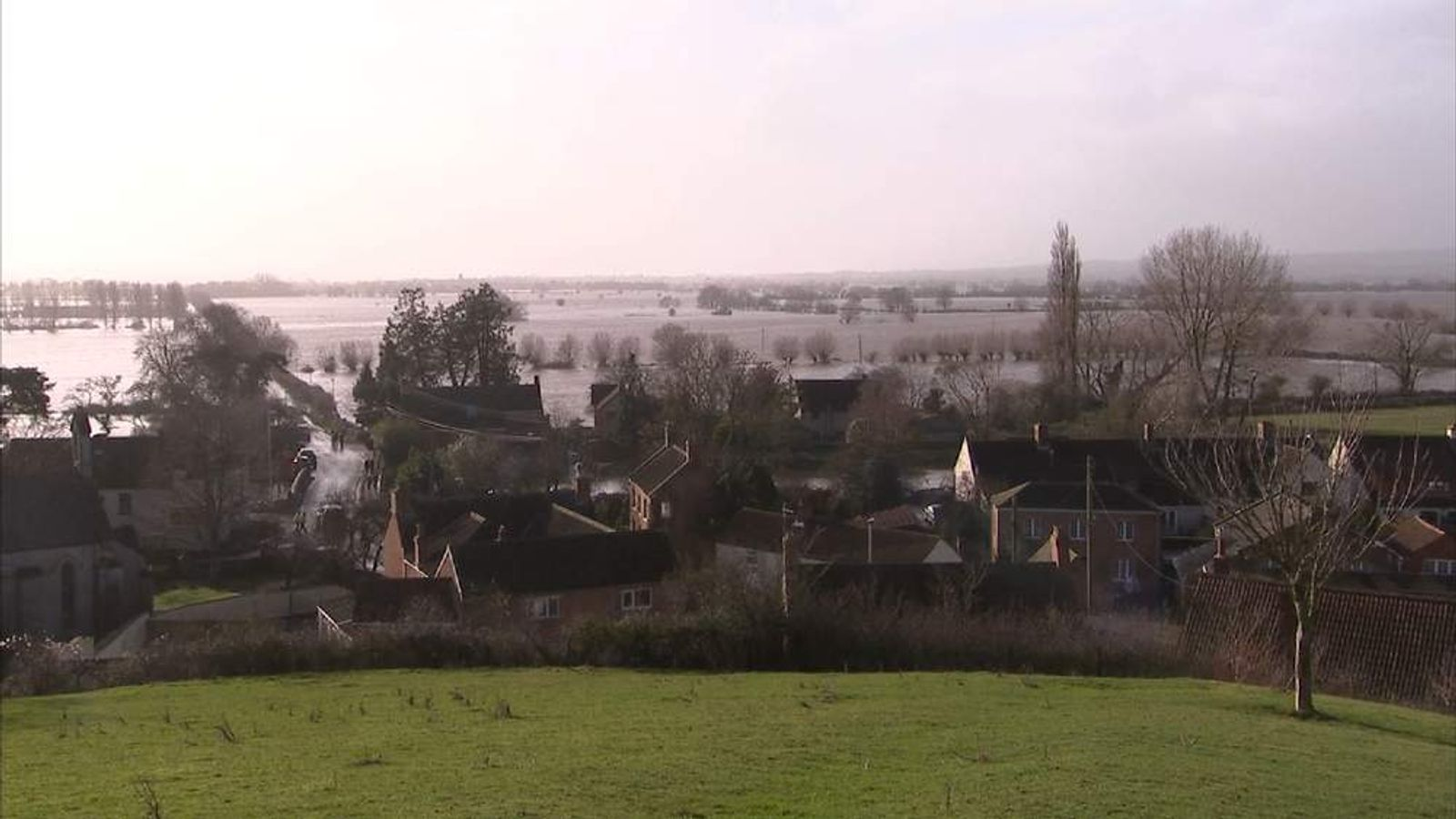 More rain has falled on their already sodden Somerset Levels.