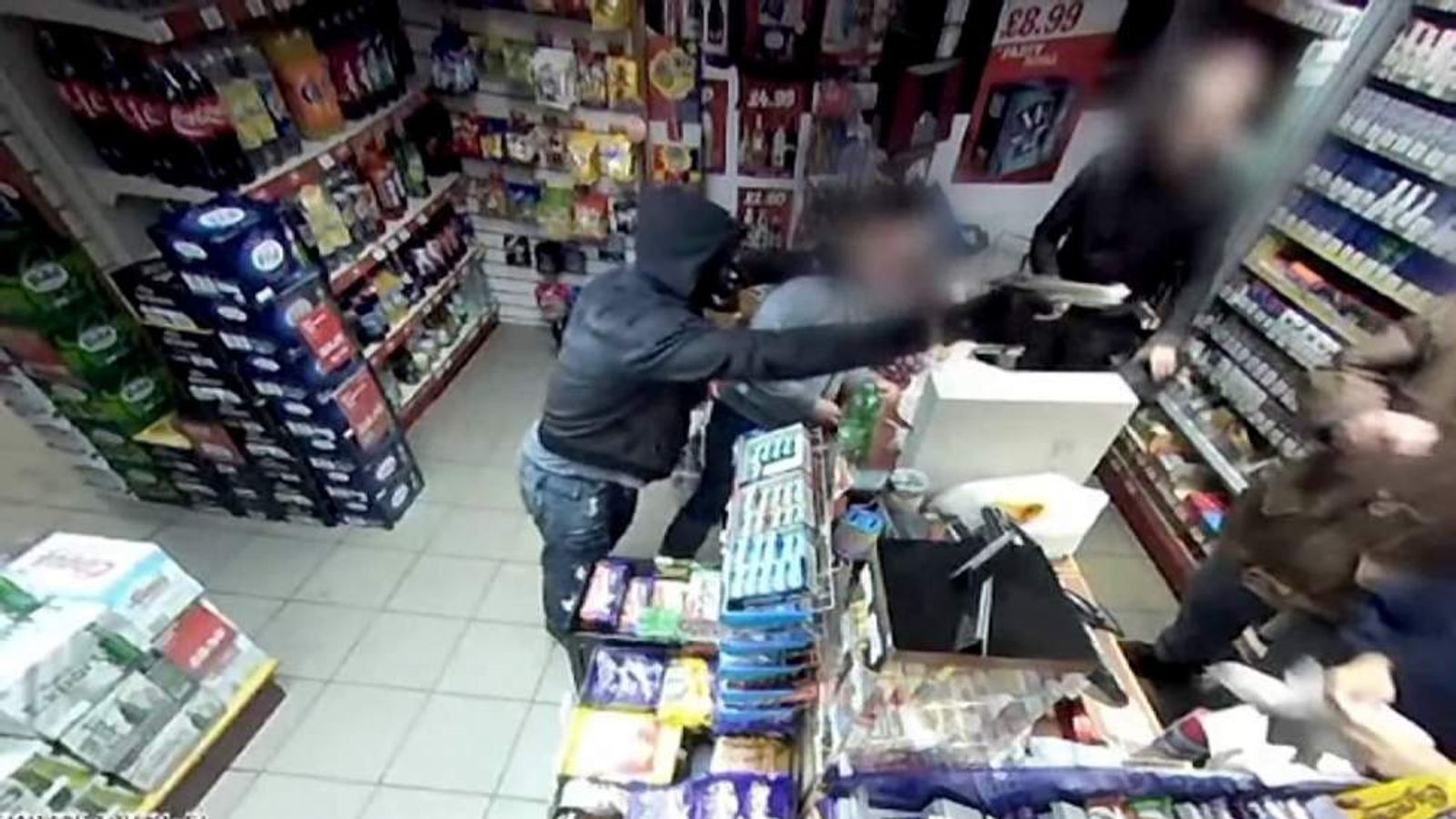 Shopkeeper fights off armed robber in Ramsbottom, Greater Manchester