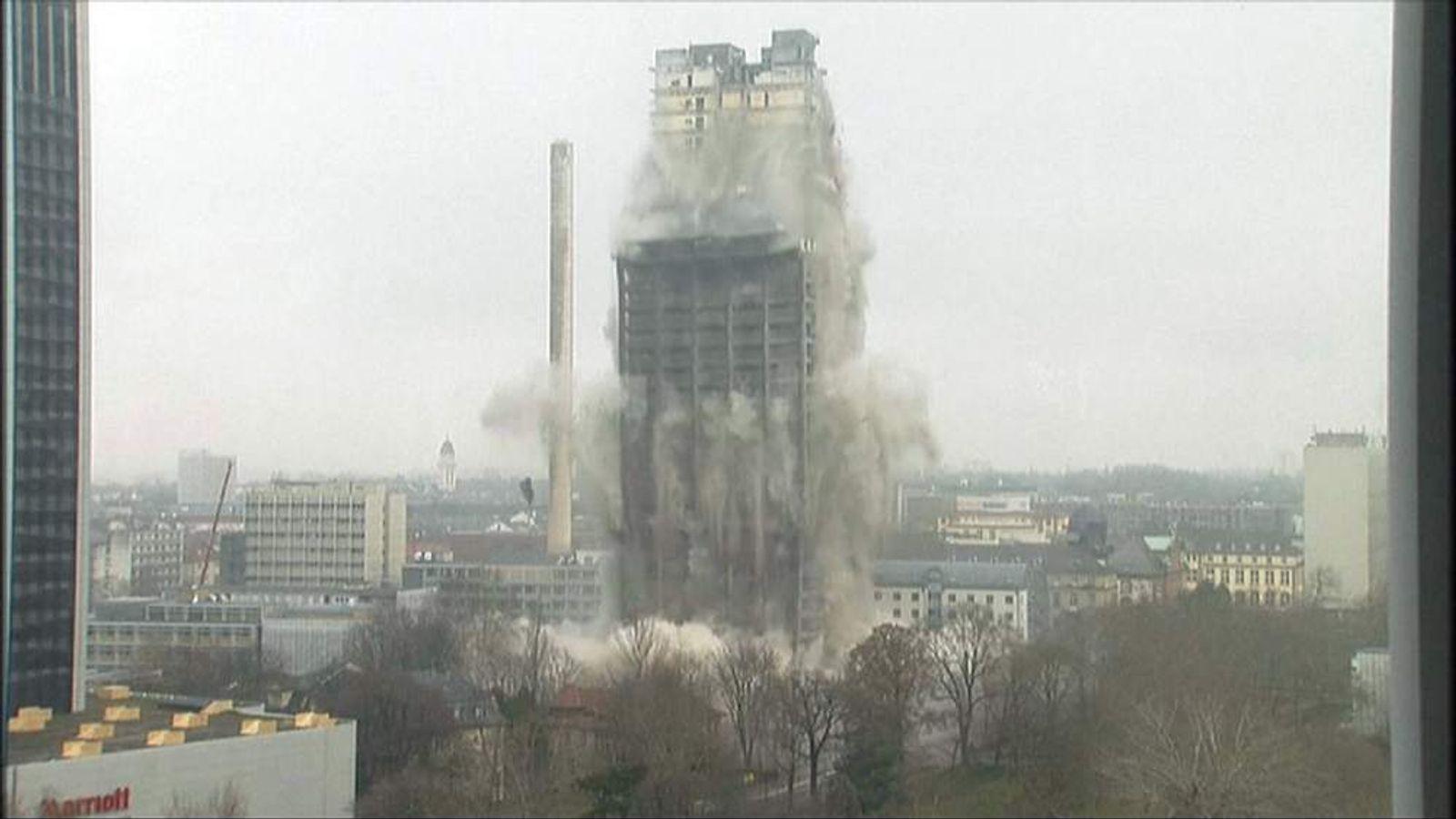 Building demolished in Frankfurt