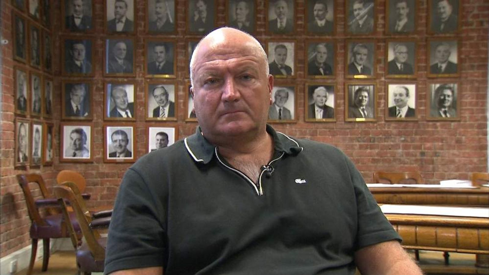 Bob Crow of the RMT union