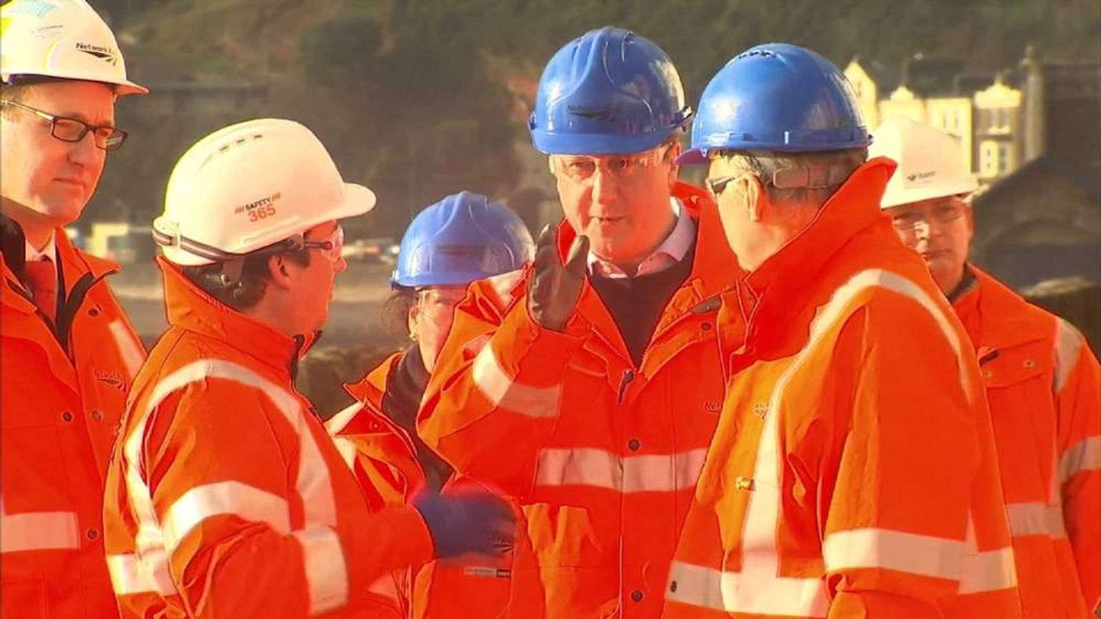 David Cameron in Dawlish Devon