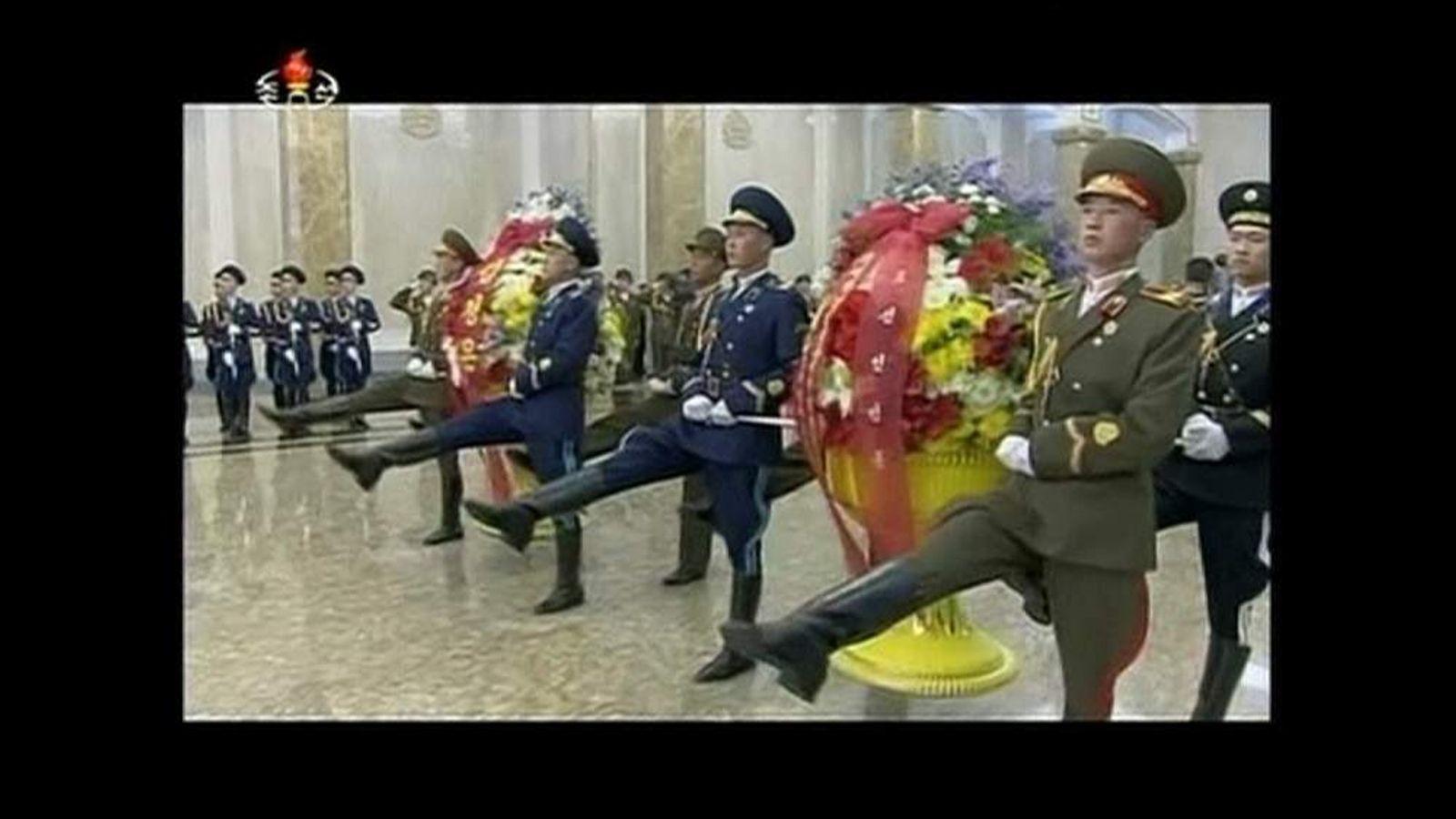 Kim Jong-Un visits father's mausoleum
