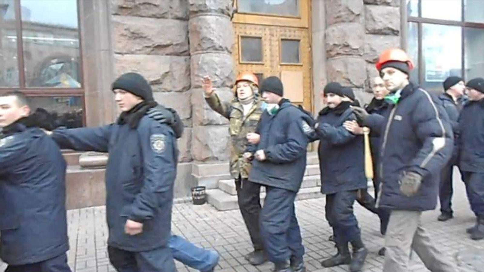Ukraine police detained