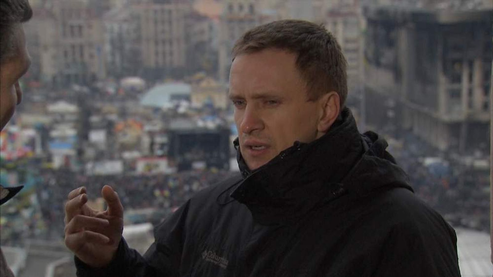 UKRAINE PROTEST Roman Zhuk screengrab