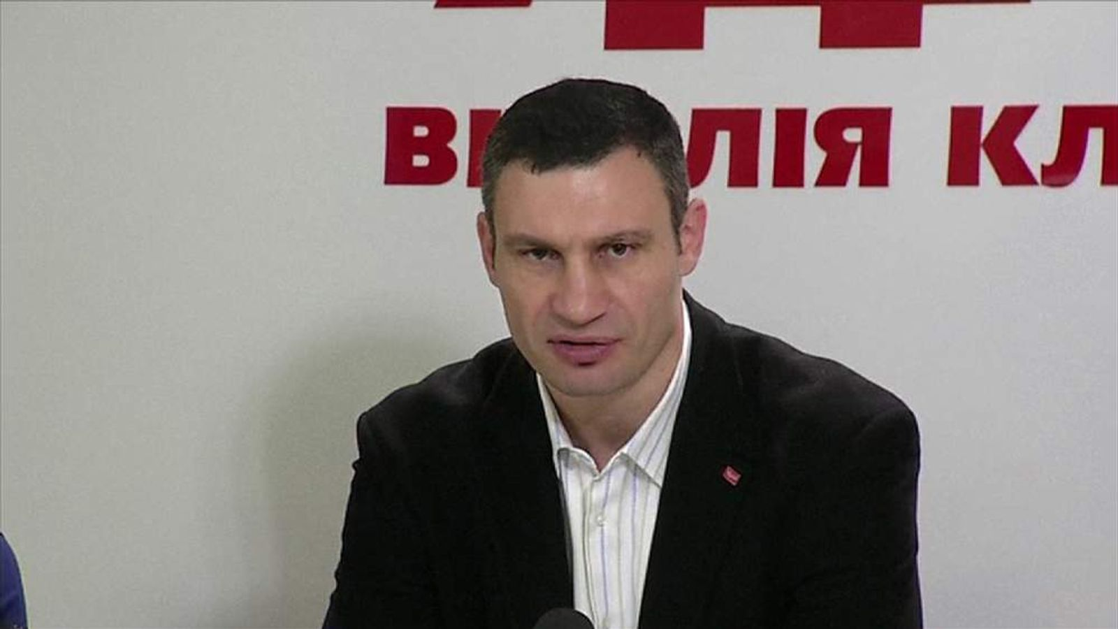 Opposition politician Vitali Klitschko