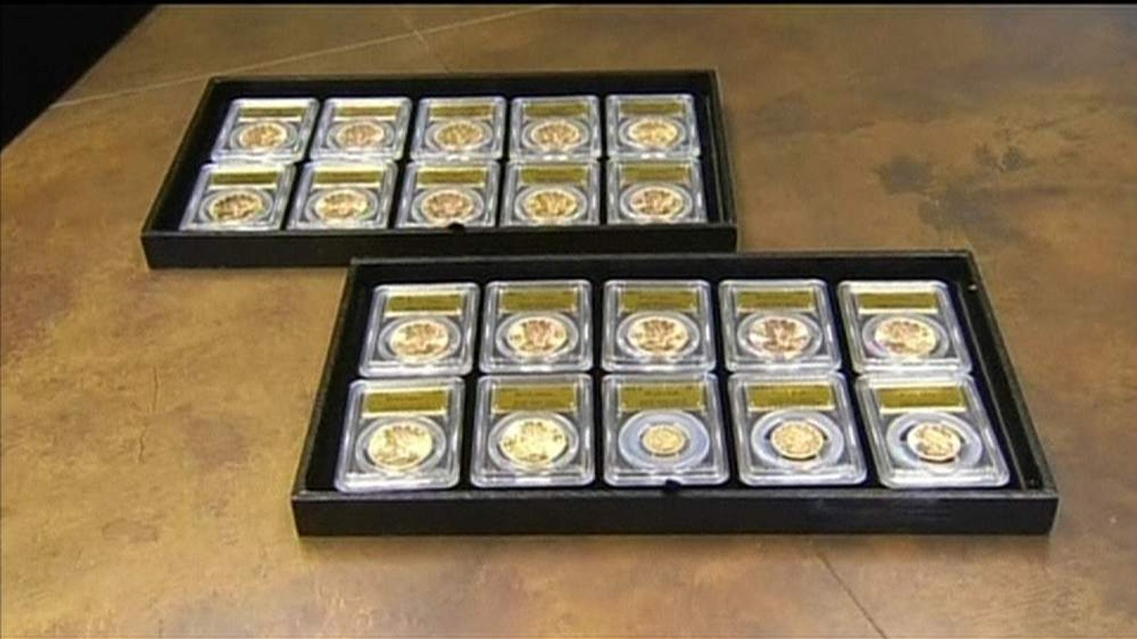 Hoard of gold coins found buried in California back yard