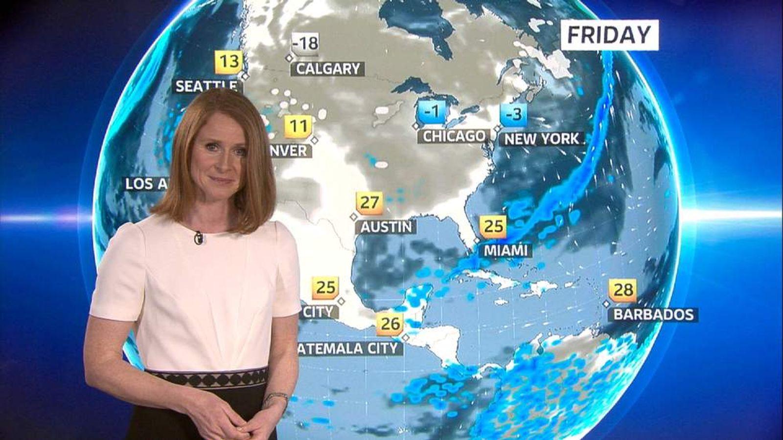 Sky News weather presenter Isabel Lang