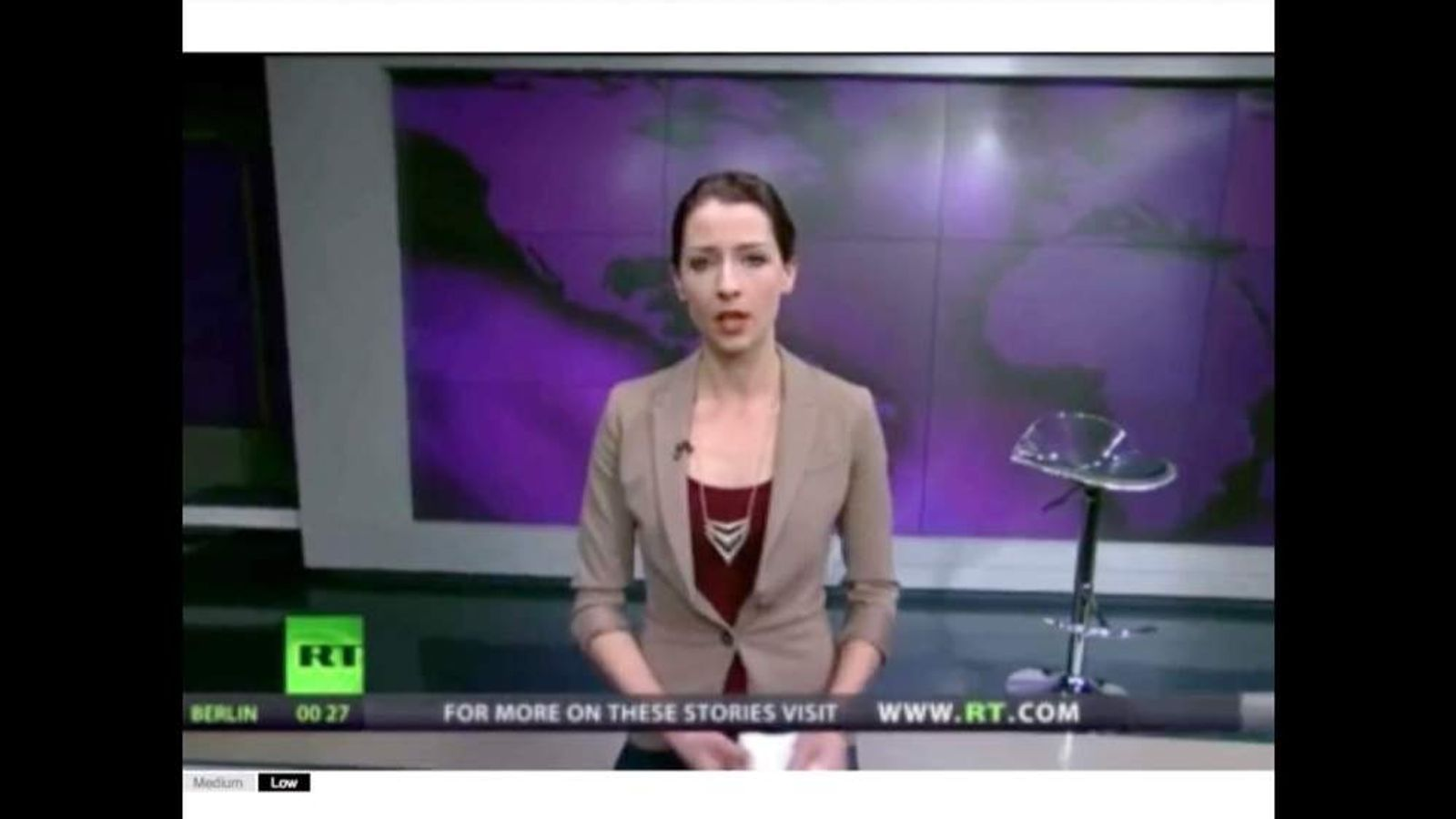 Russia Today anchor Abby Martin