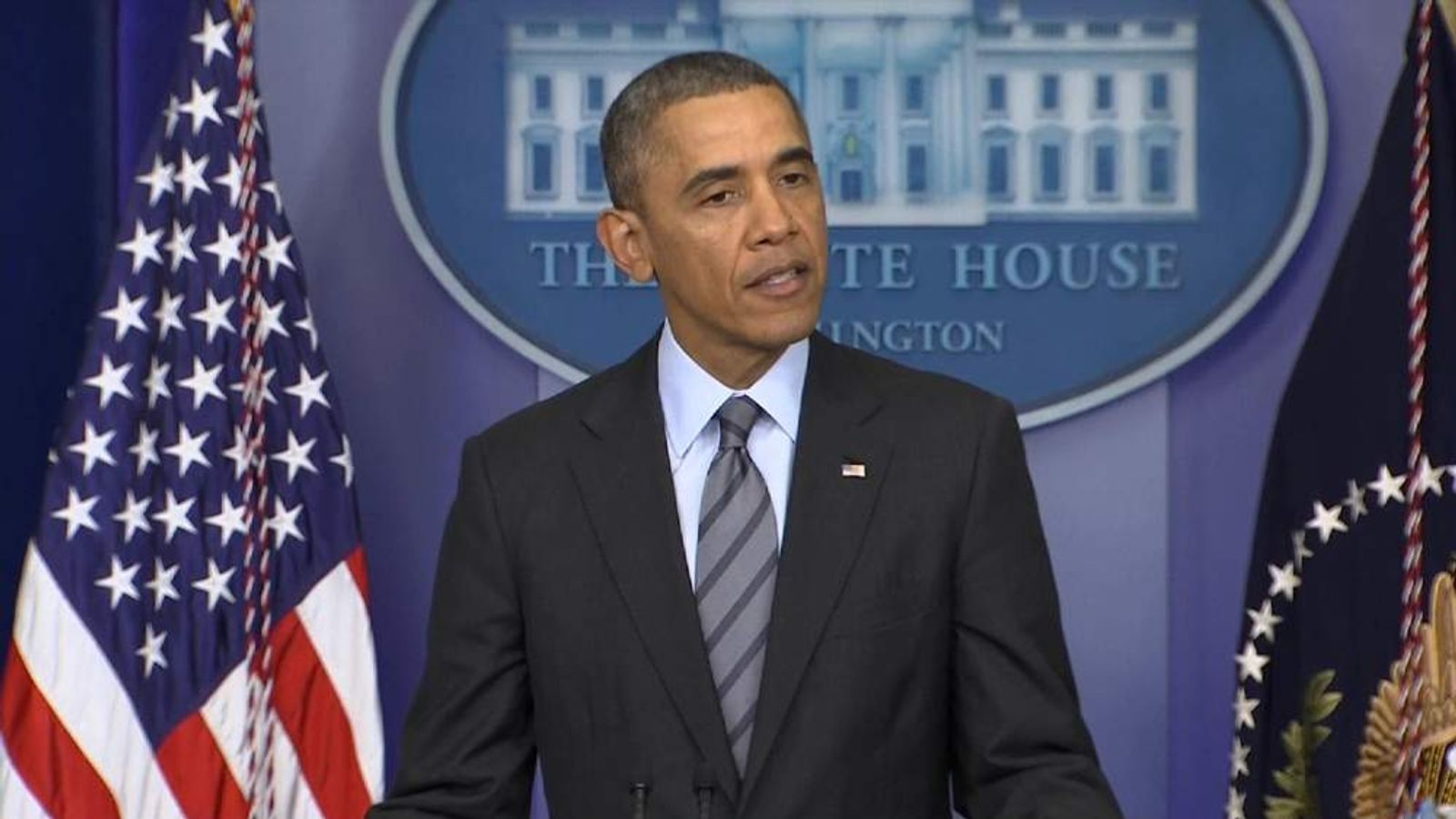 President Obama delivers a statement on the crisis in Ukraine.