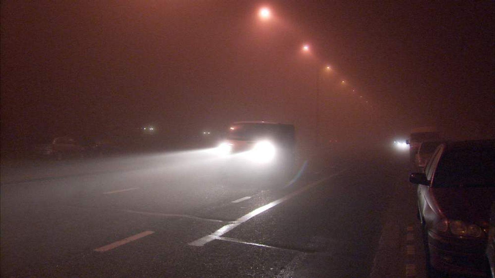 weather London fog