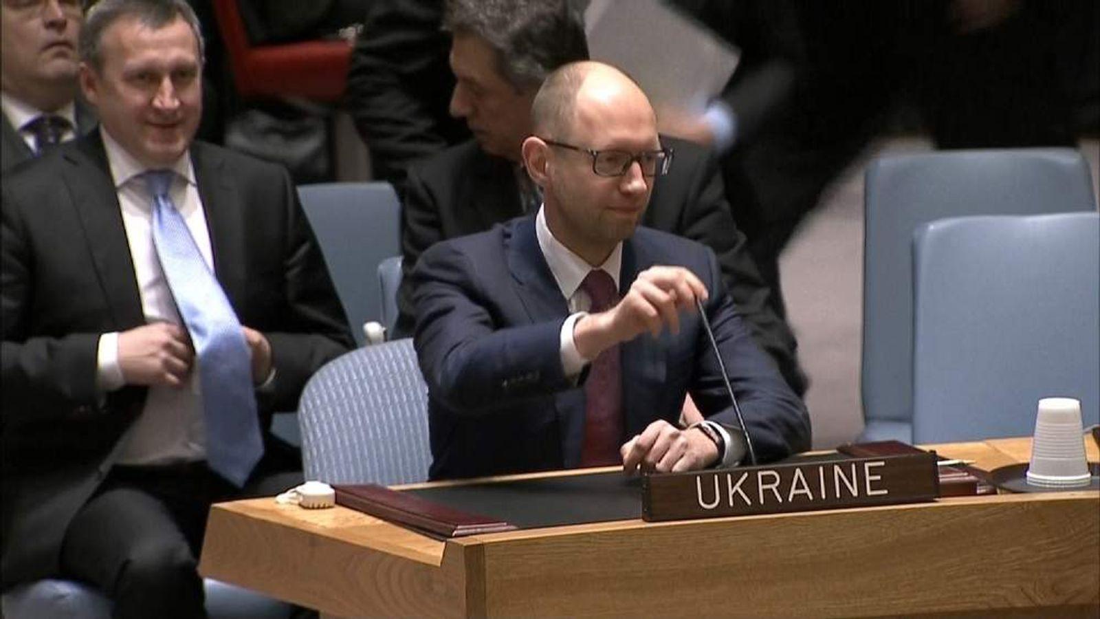 Interim Ukrainian President Arseniy Yatsenyuk