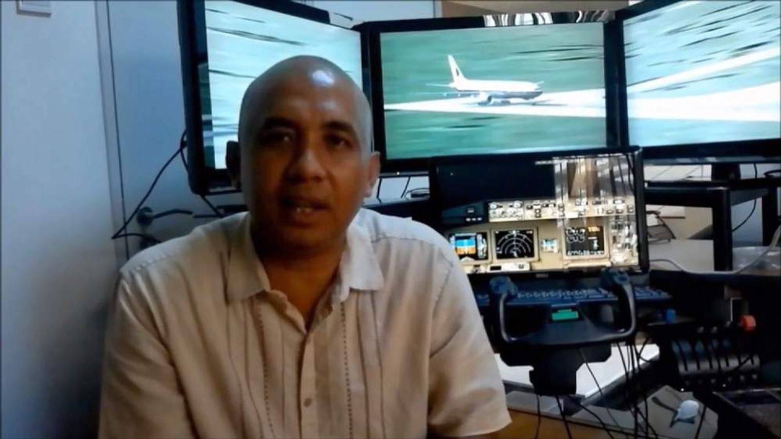 The home of one of the pilots of MH370, Zaharie Ahmad Shah, was searched as part of the investigation.