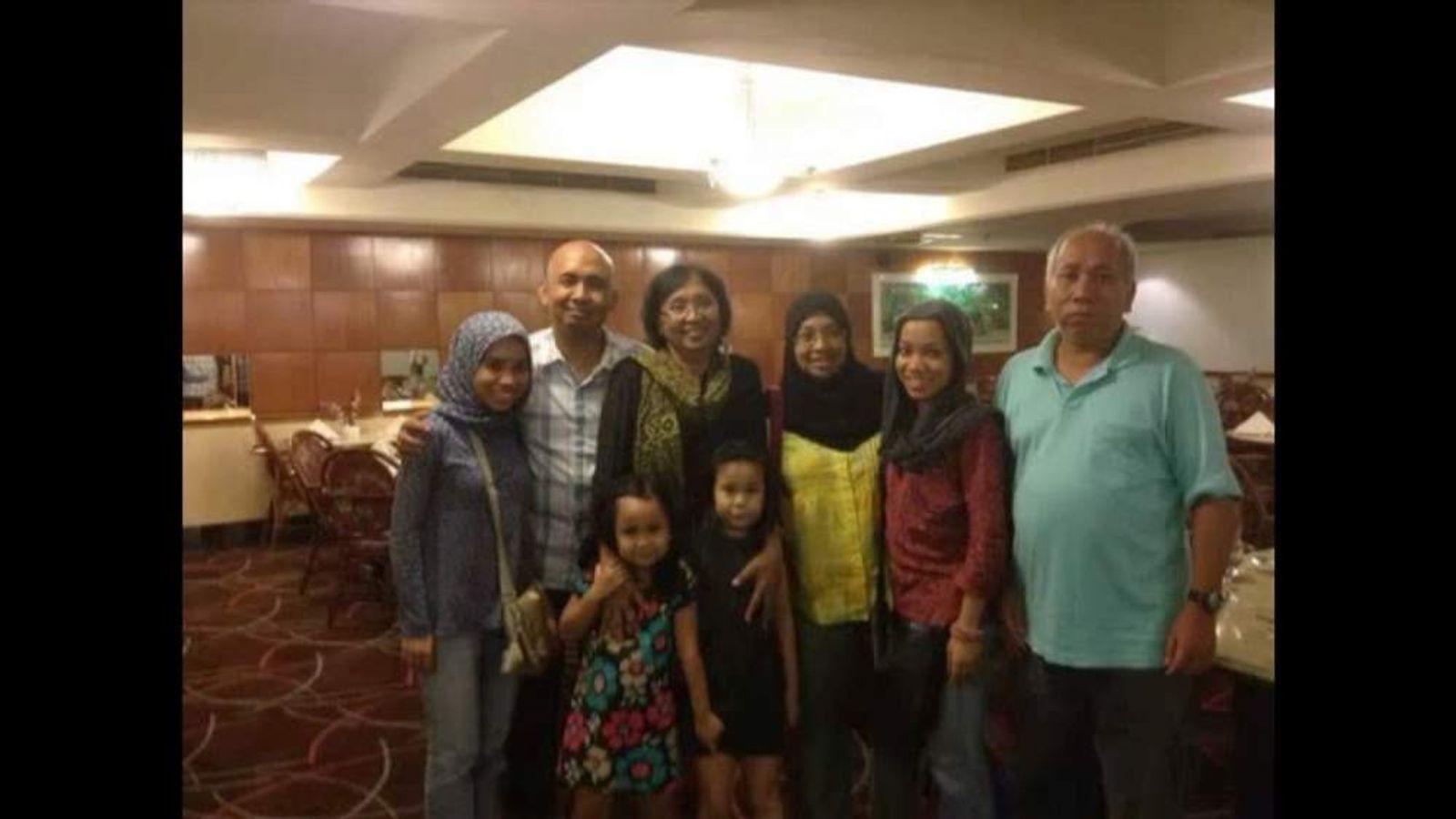 Family photos of Malaysia Airlines pilot Zaharie Ahmad Shah