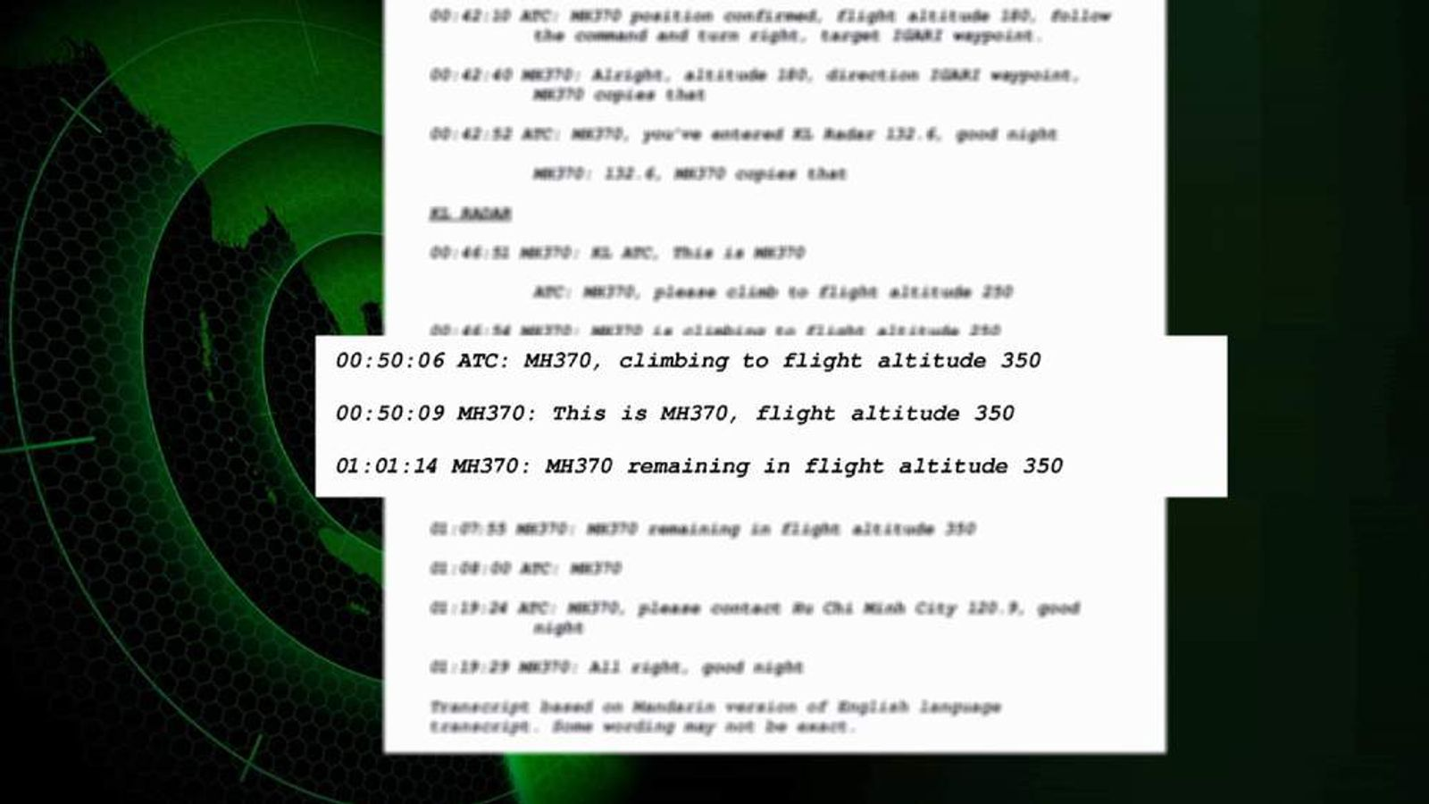 220314 Missing Plane Transcript screengrab