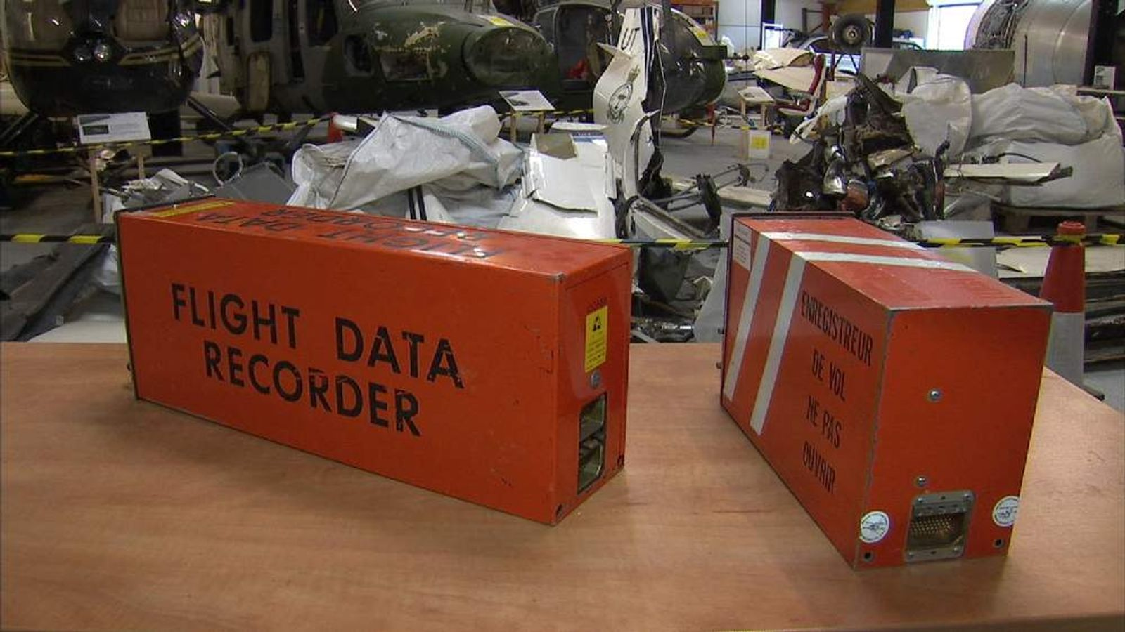 A plane's flight data recorder