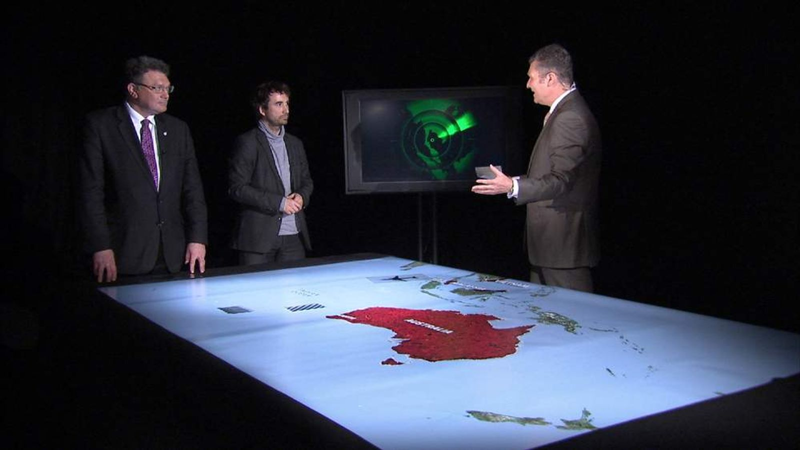 Sky's David Bowden looks at the changing search area as the Australian Air Force report debris spotted in the ocean.