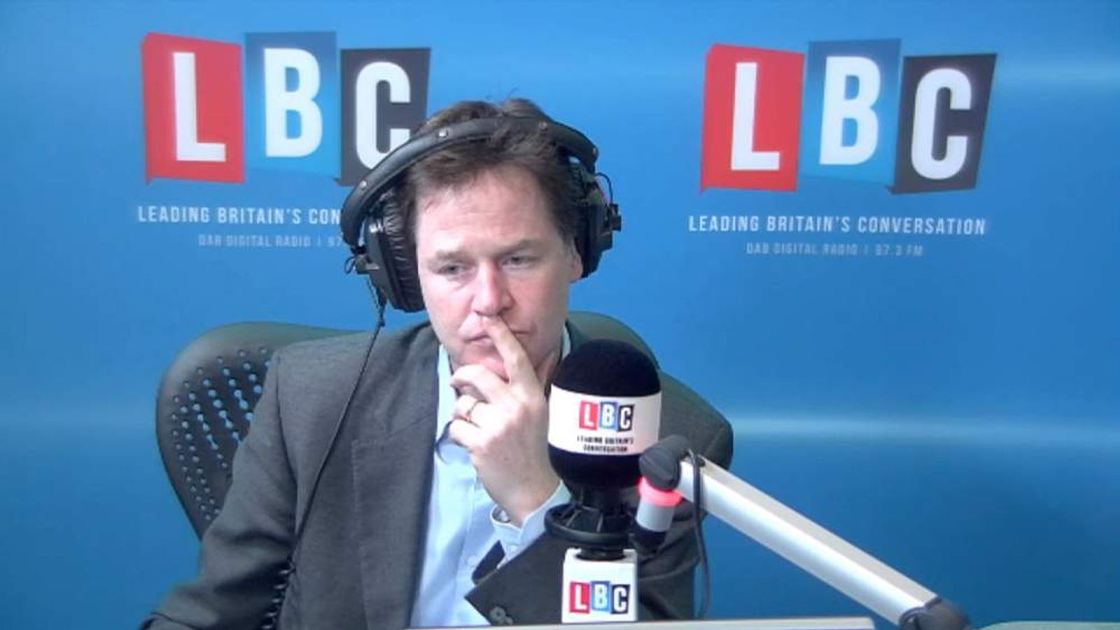 Nick Clegg declares himself delighted after his Europe debate performance