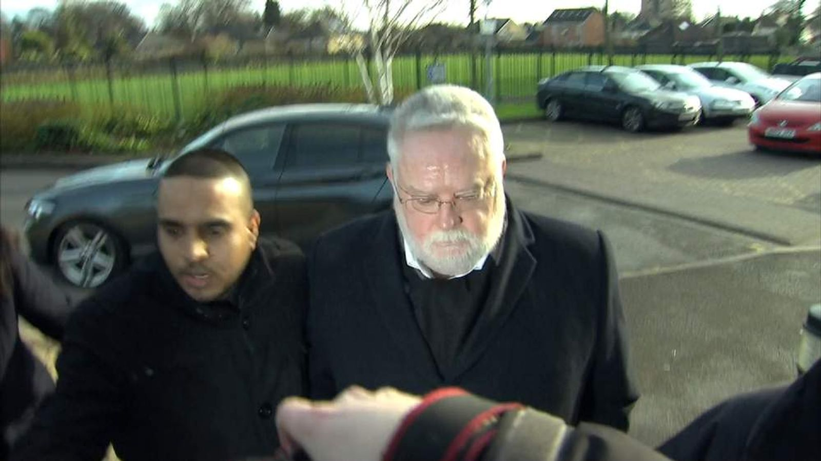 Paul Flowers answering bail in Leeds