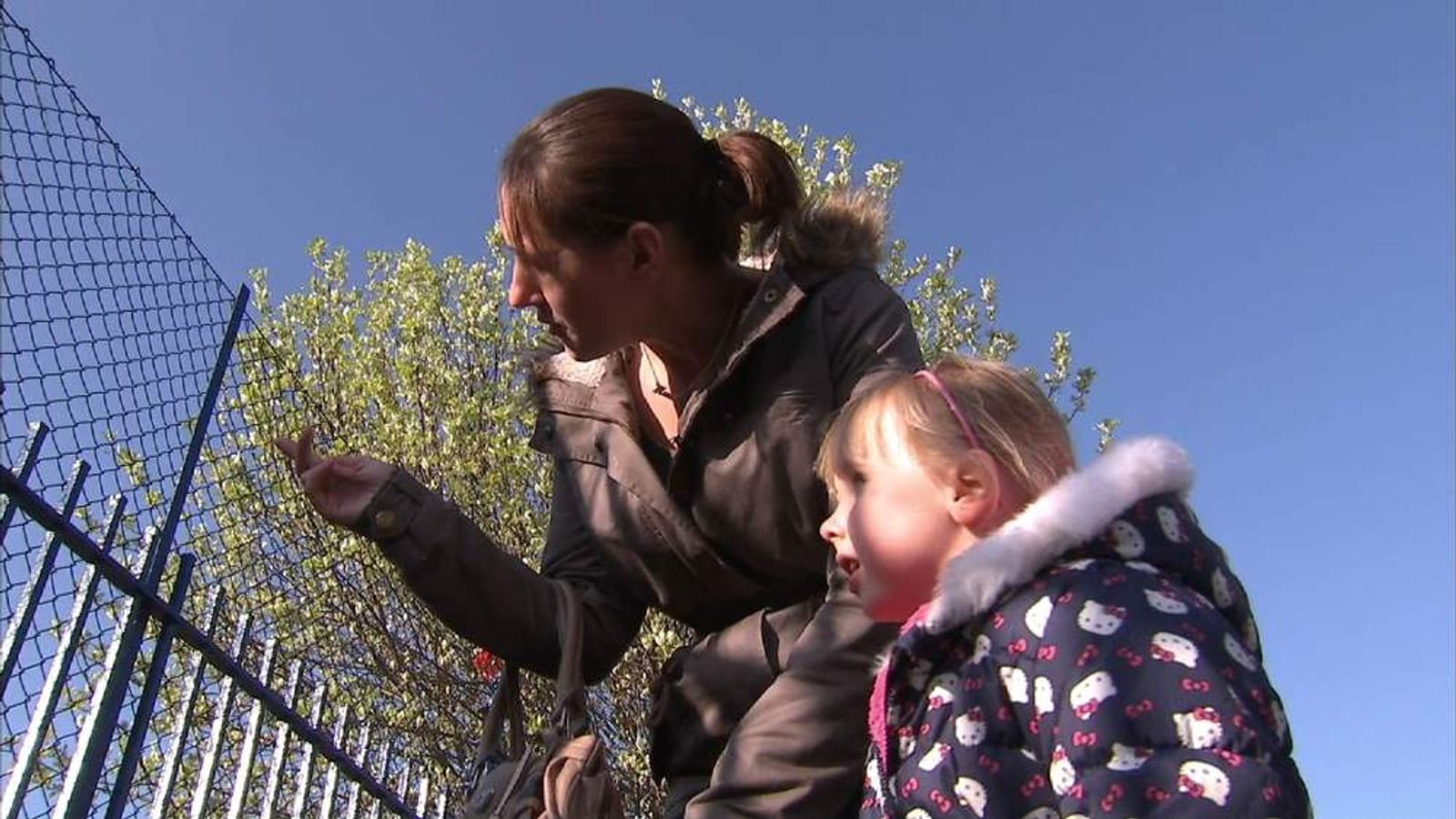 Bristol mother and daughter look at their desired Primary School