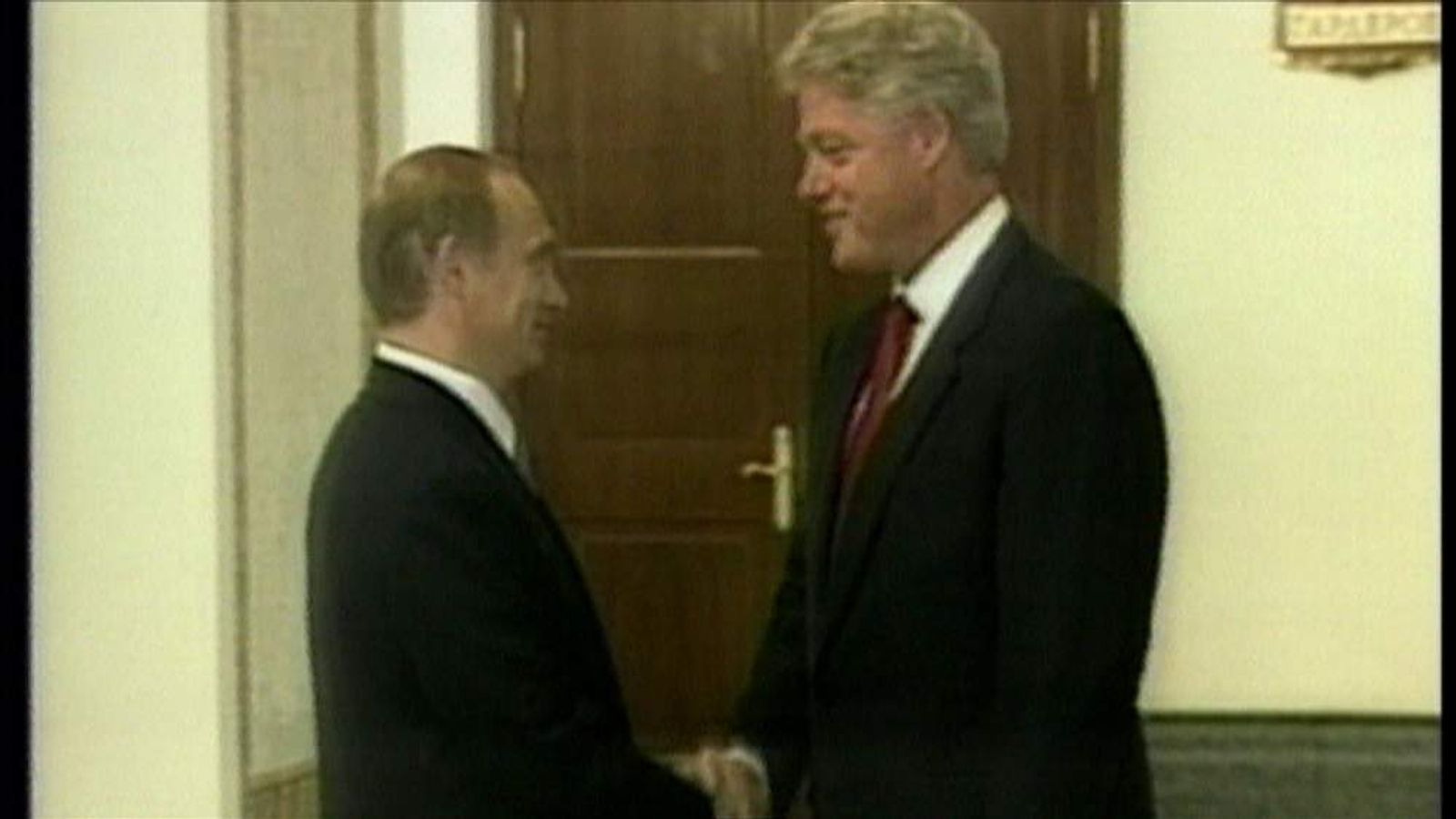 Presidents Putin and Clinton