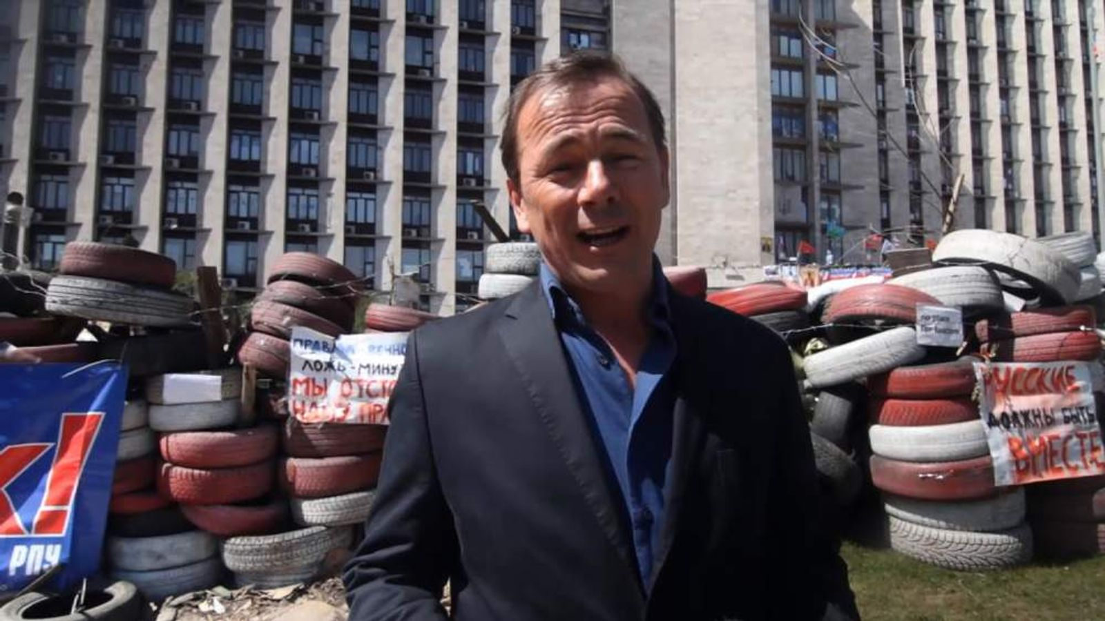 Sky's Andrew Wilson reports from Donetsk in eastern Ukraine.