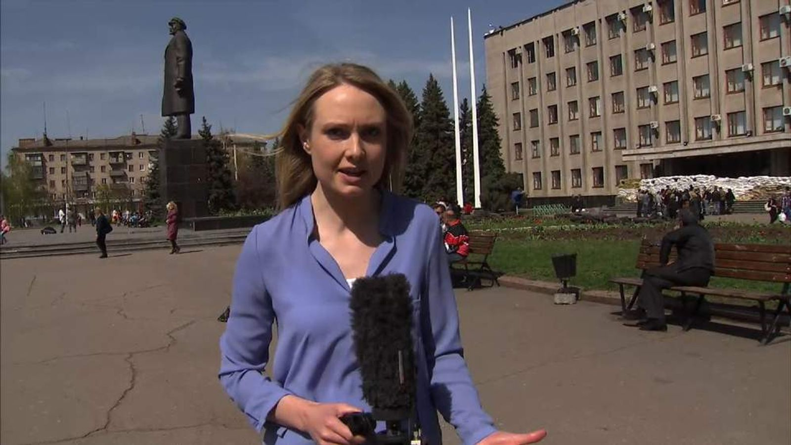 Sky correspondent Katie Stallard reports from Slavyansk in eastern Ukraine.