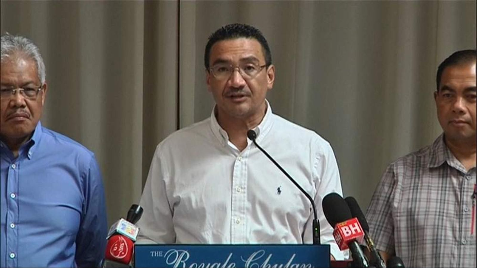 Missing Malaysia plane news conference
