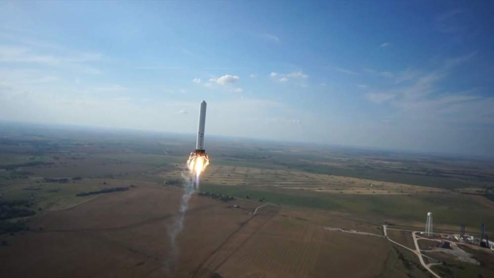 SpaceX reusable rocket test flight caught on video by drone